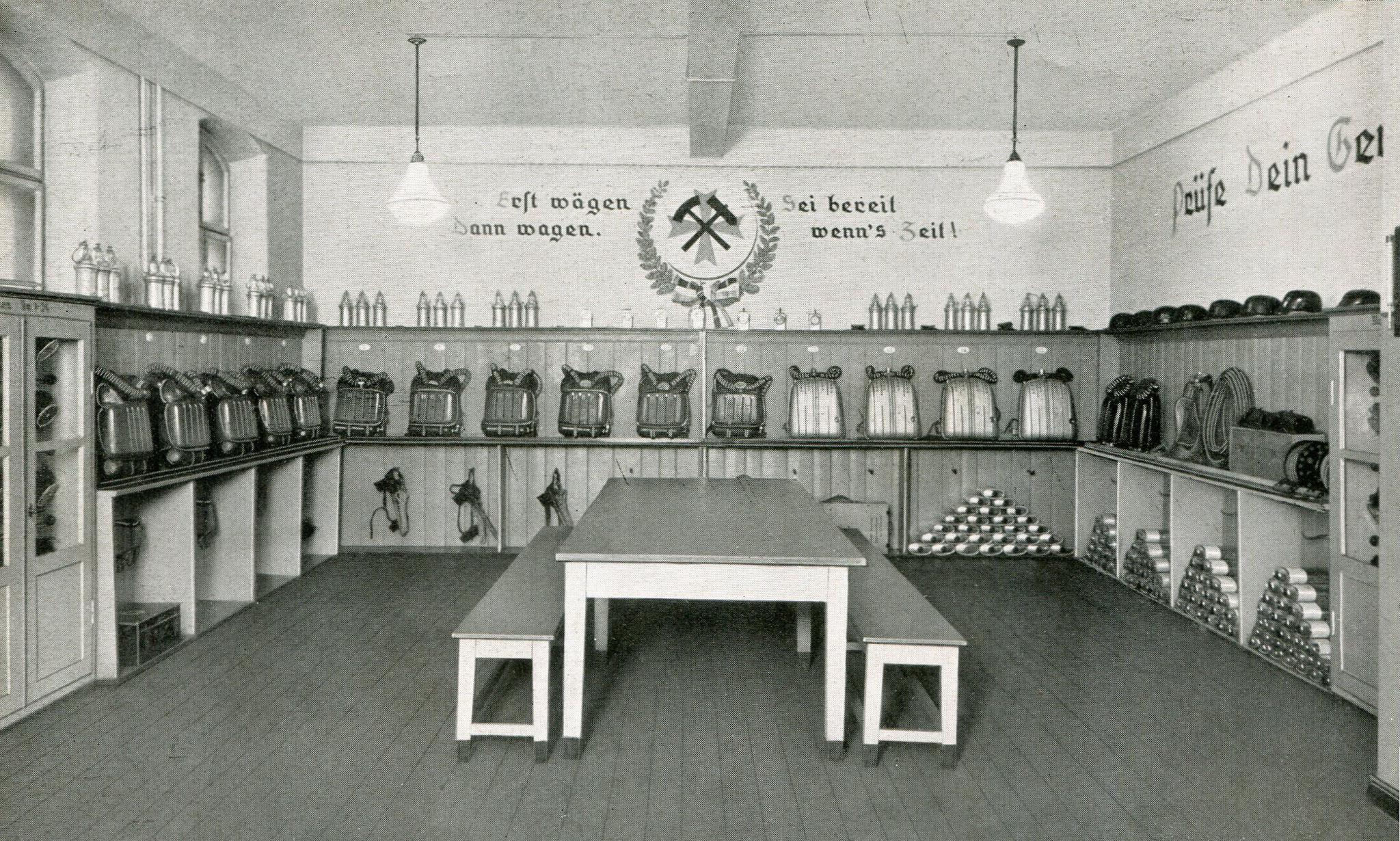 Gasschutzraum Heinitzgrube in Beuthen  1938