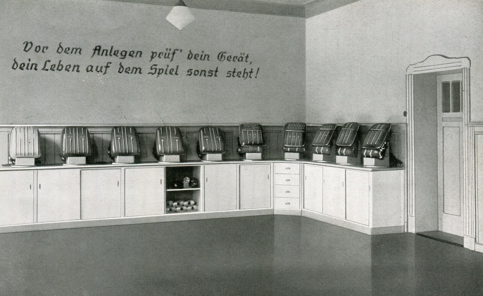 Hauptstelle für das Grubenrettungswesen in Clausthal-Harz  1938