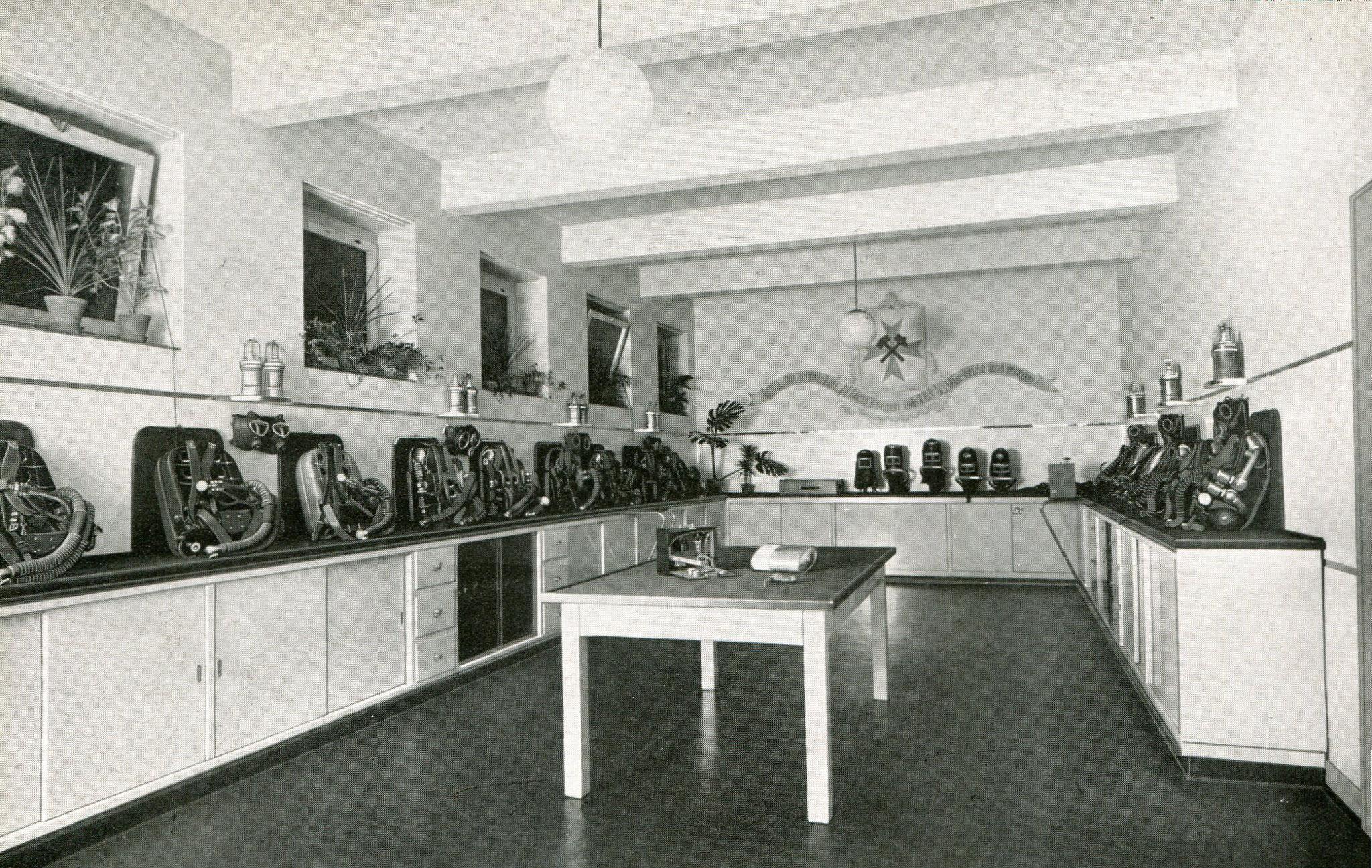 Gasschutzgeräteraum Bergschule Bochum  1936