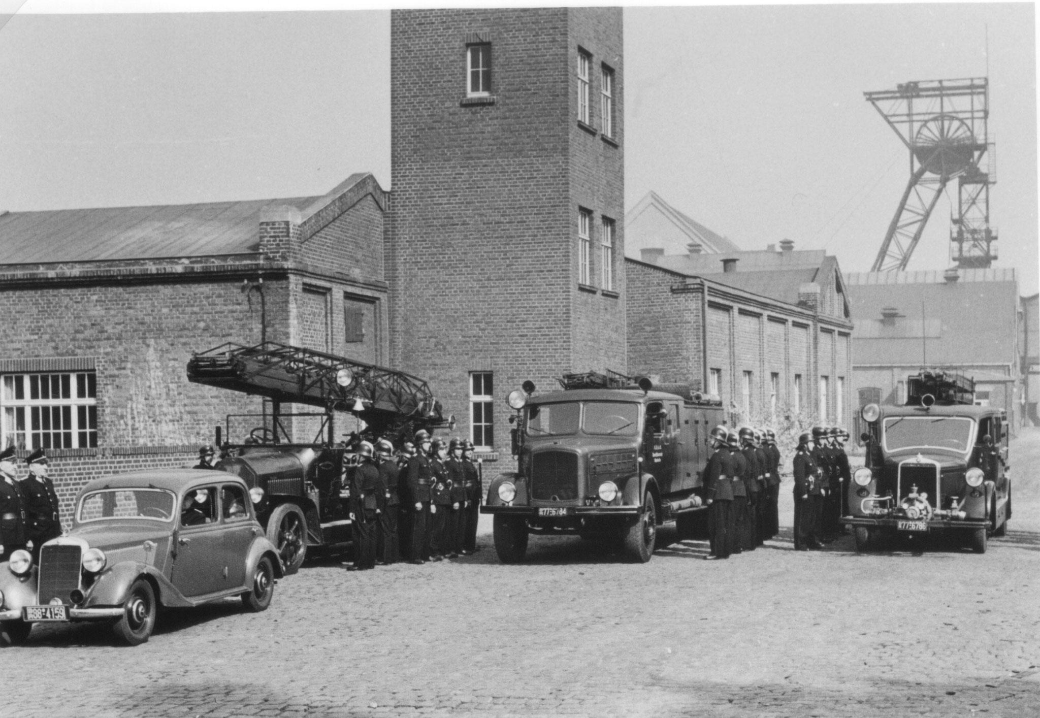 Rheinelbe-Mannschaft angetreten
