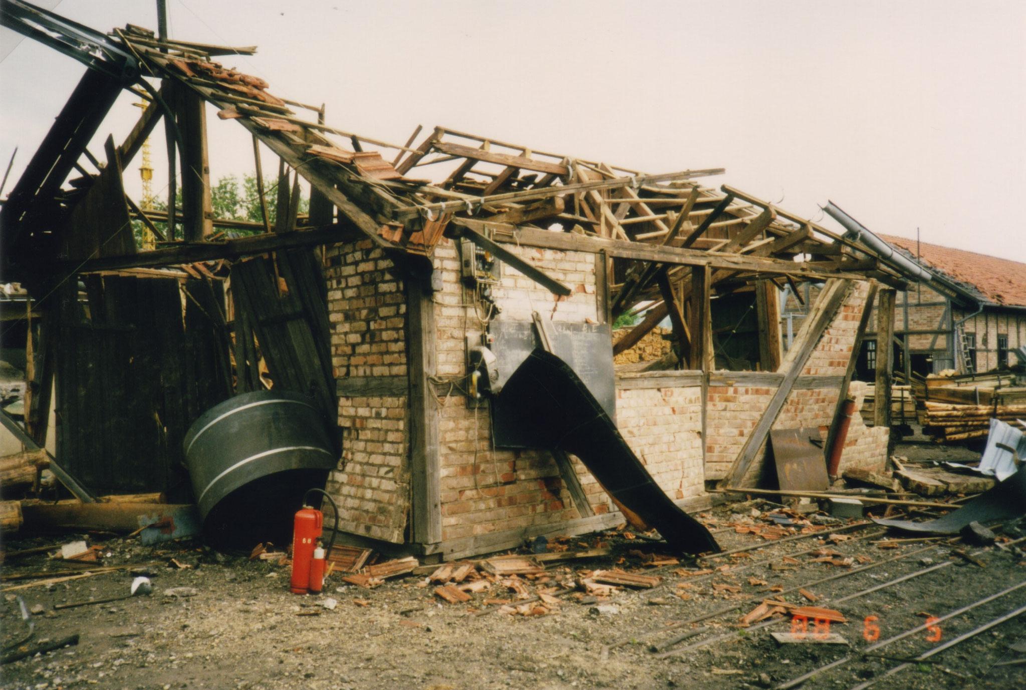 Ausmaß der Zerstörung Über-Tage