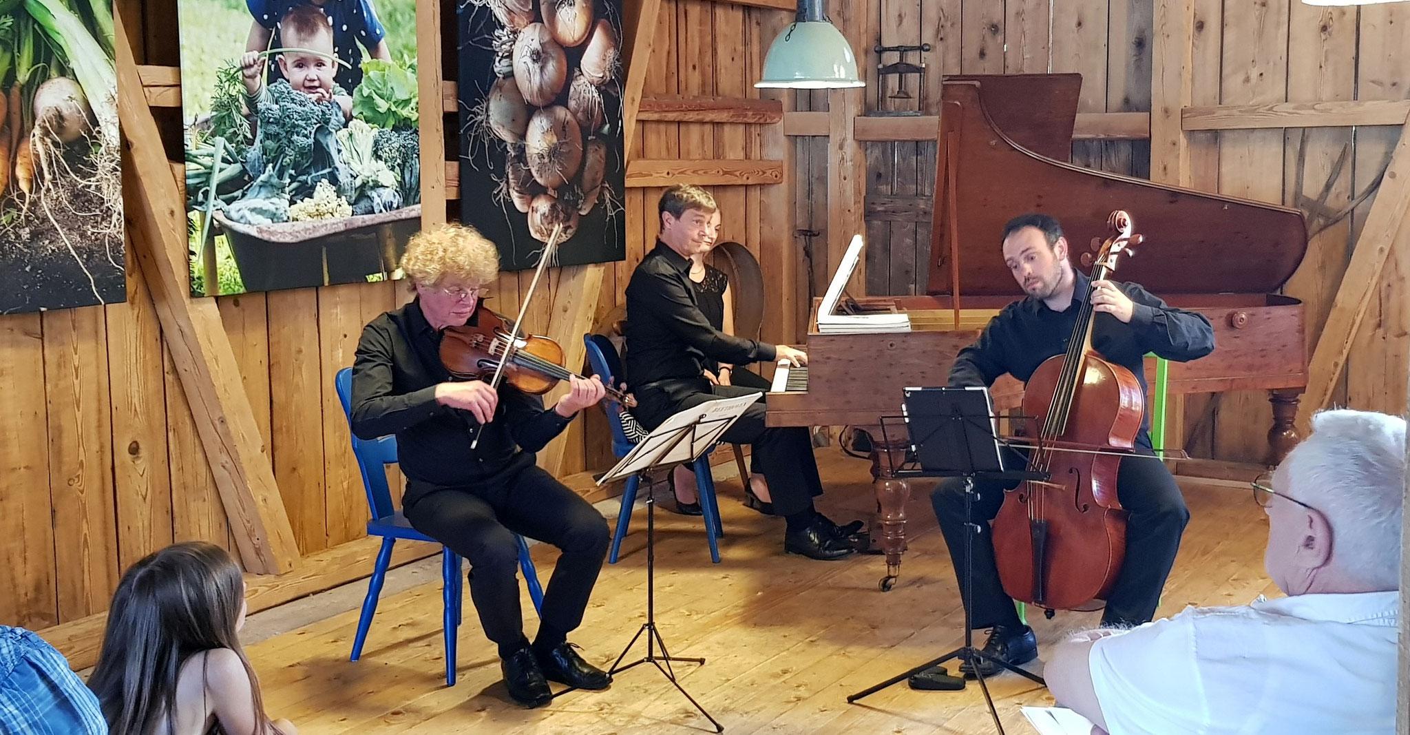Beethoven-Trio-Konzert in der Dorfscheune Bieselsberg