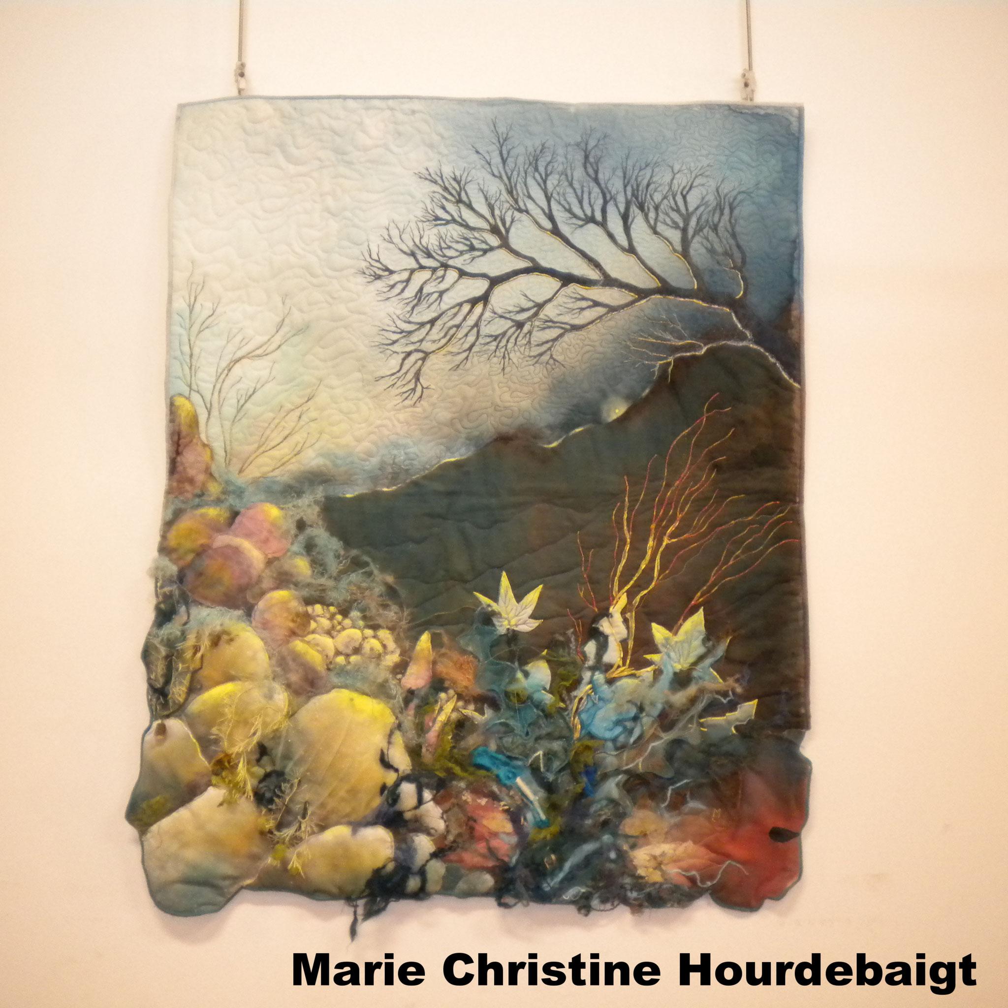 Marie Christine HOURDEBAIGT exposition art textile à la Fête du Fil 15 août Labastide Rouairoux (tarn-81270) FRANCE