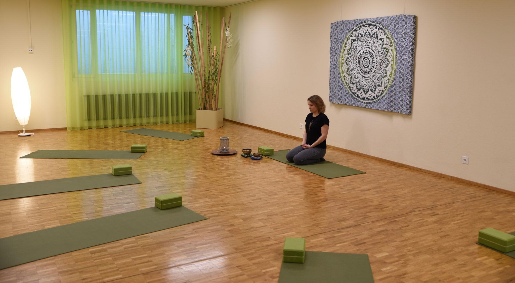 grosszügiger Yogaraum