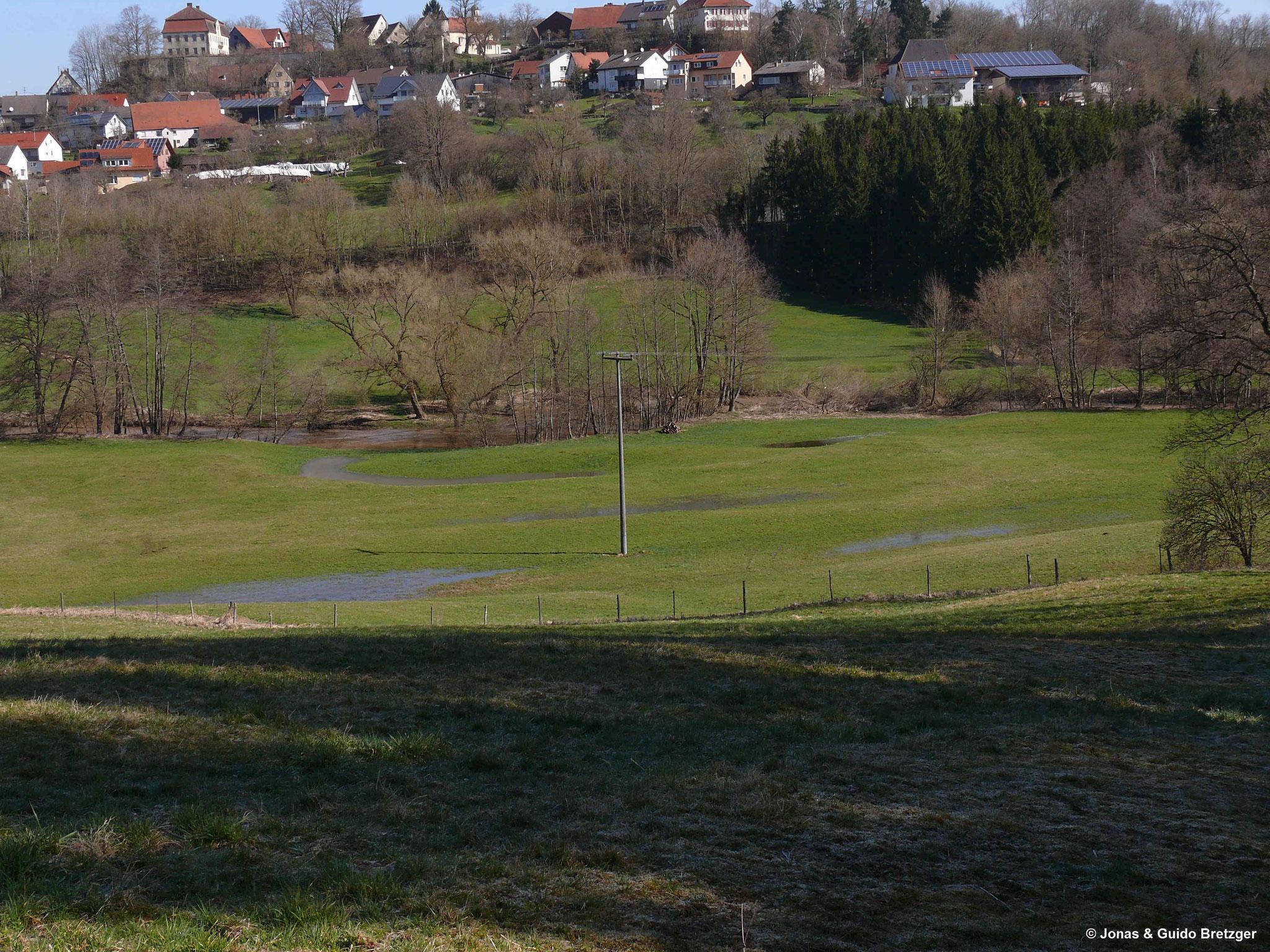 Schutzgebiet nach Frühjahrshochwasser