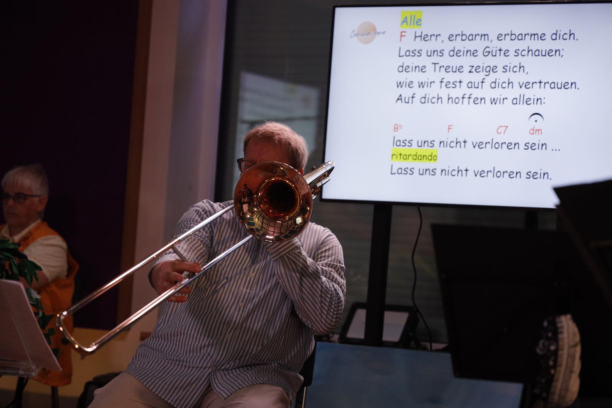 Markus Lenzing, 1. Posaunist im Cominghome-Ensemble
