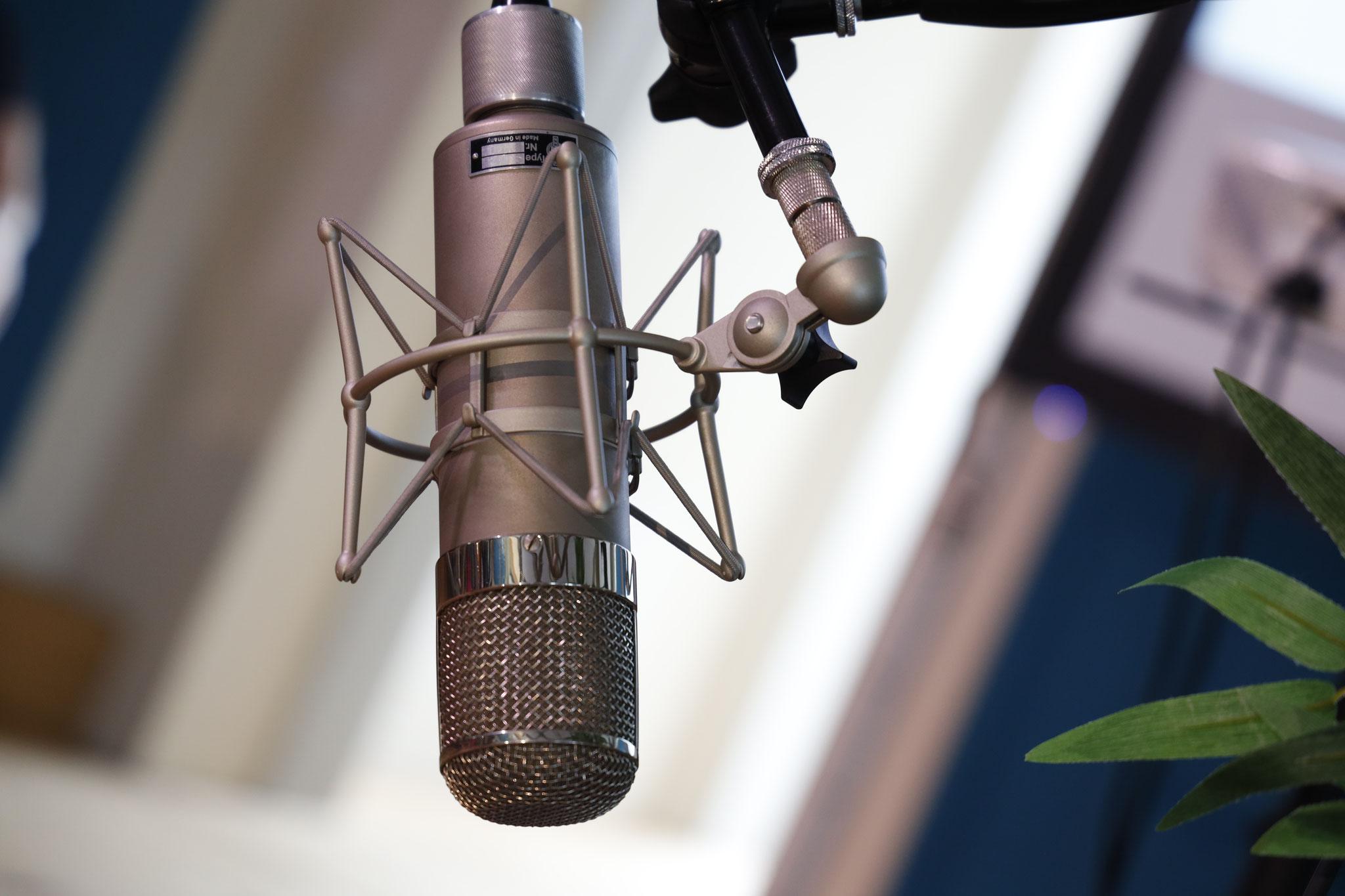 Mikrofon mit sog. Spinne