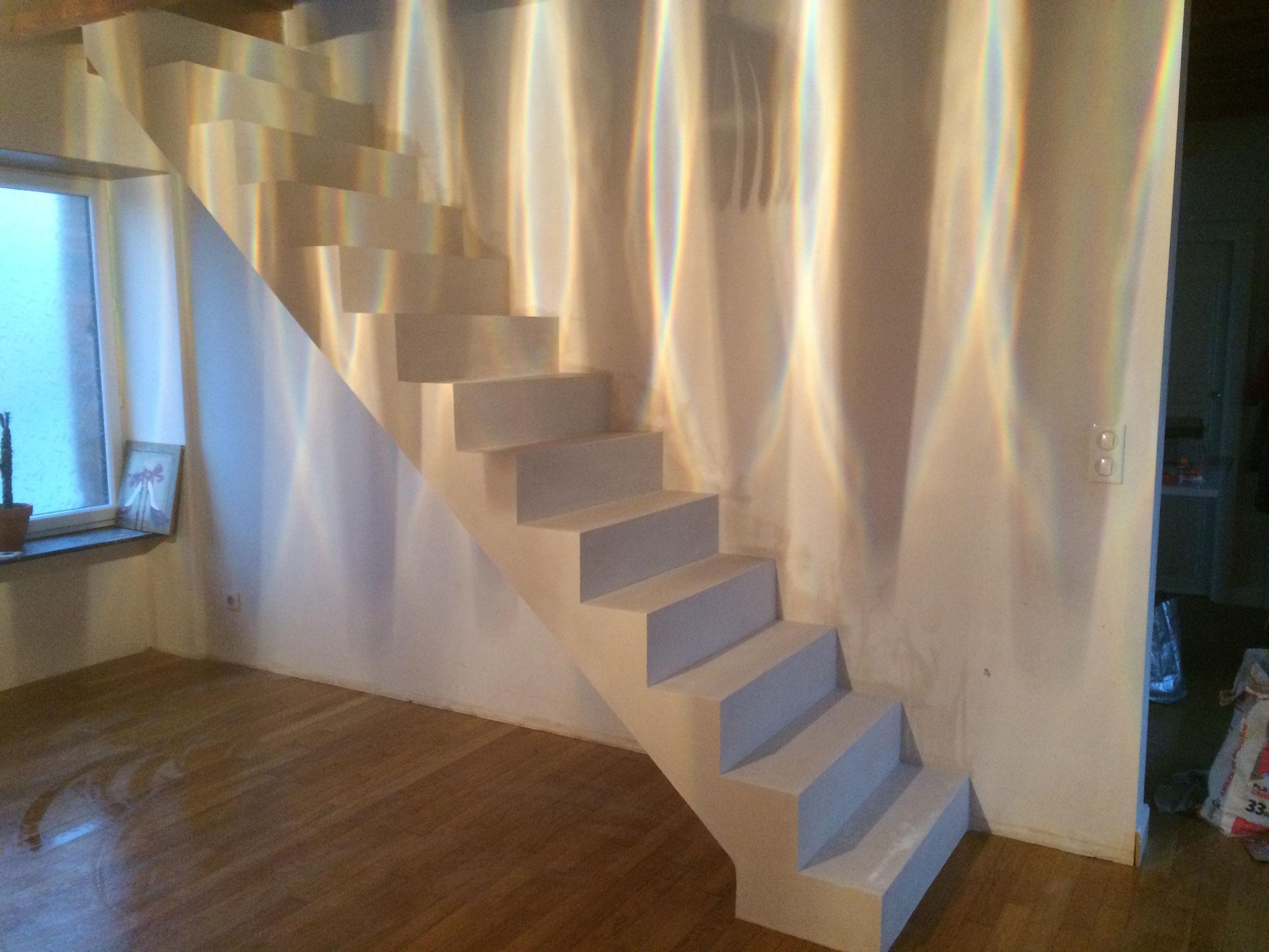 escalier sur voute sarrasine( brique et platre)