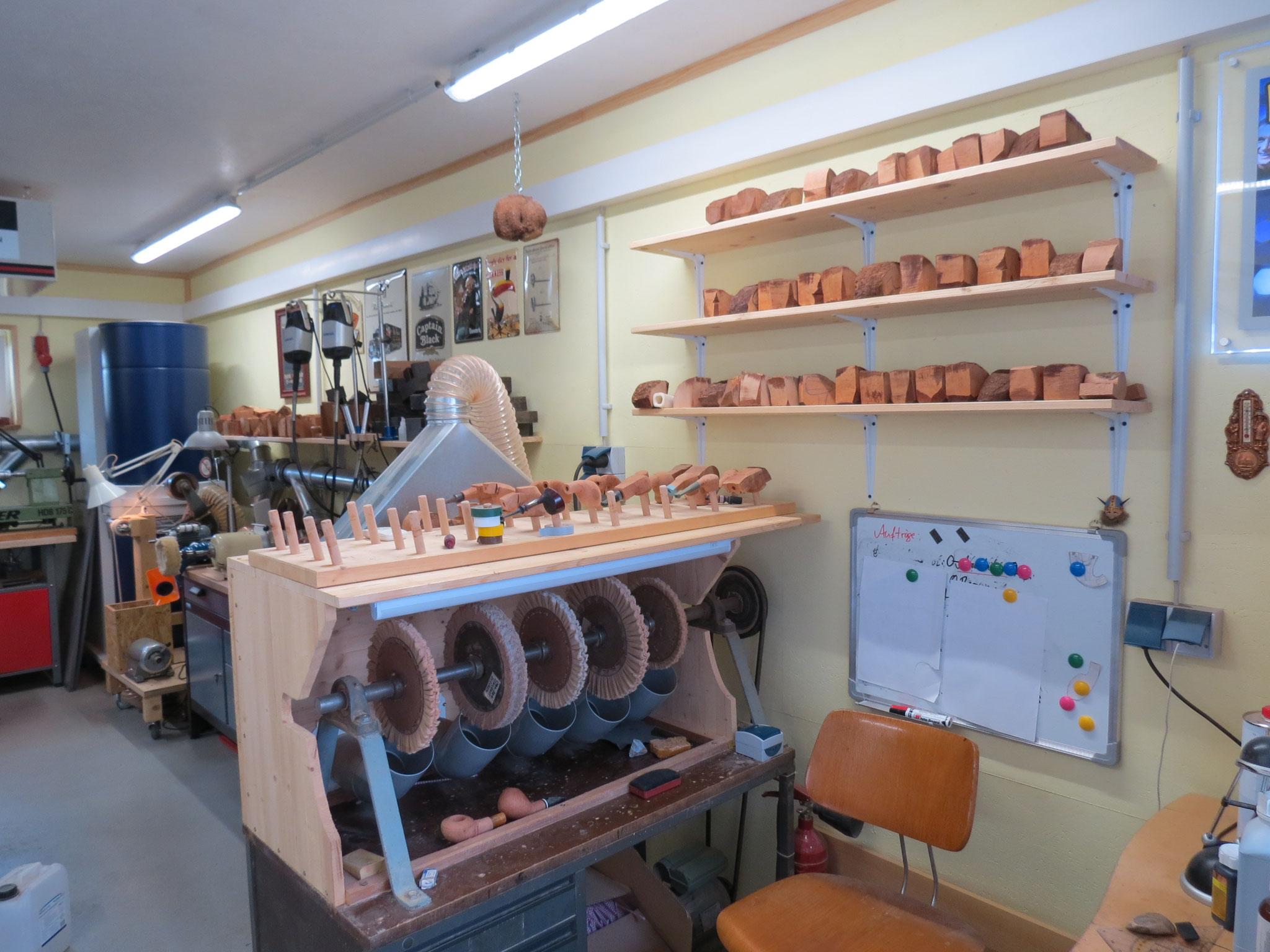 Die ehemalige Poliermaschine von Rainer Barbi