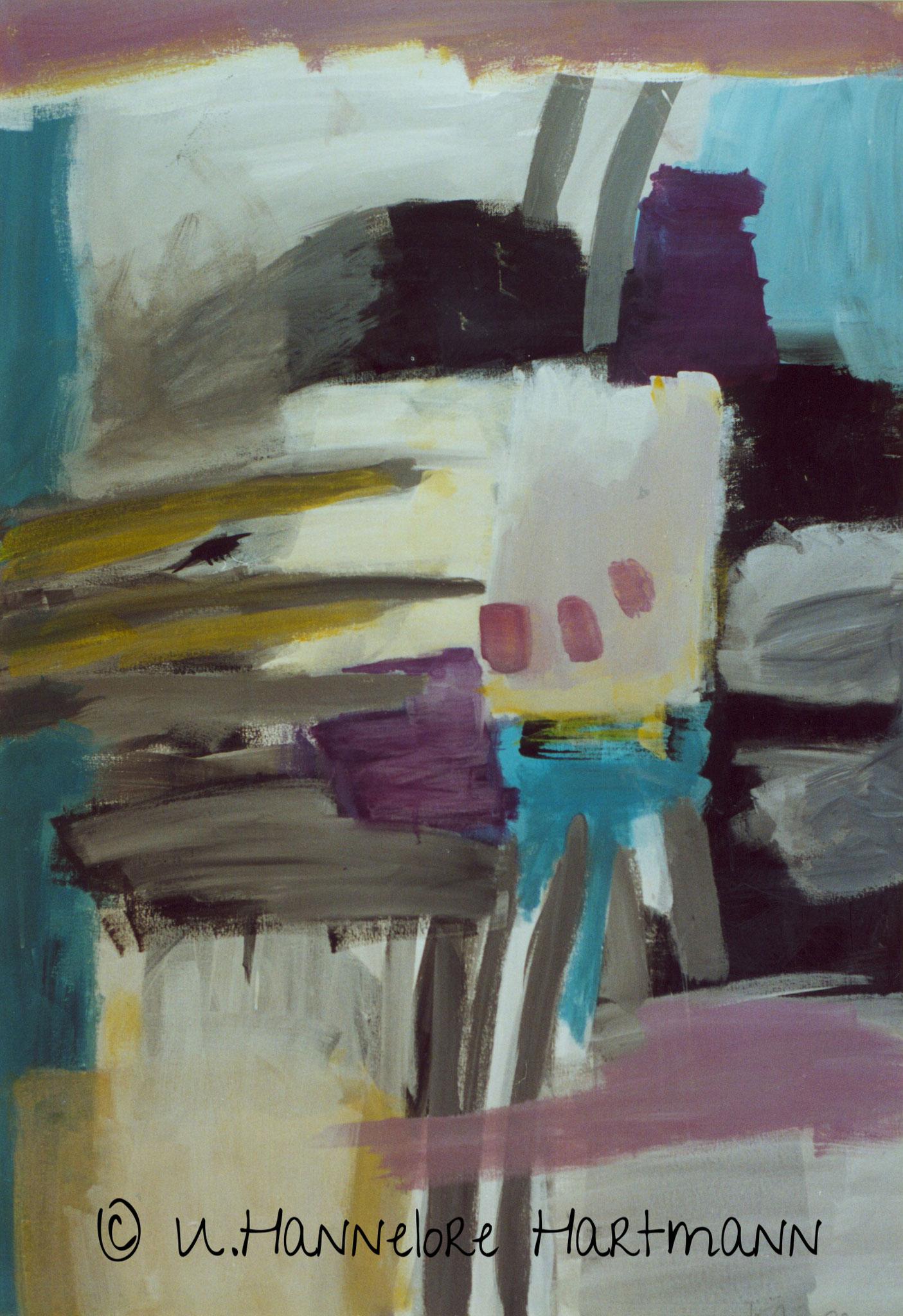 """""""Ordnung"""", Acryl, Pigmente auf Nessel, 120 x 80, mit Stahlrohrrahmen"""