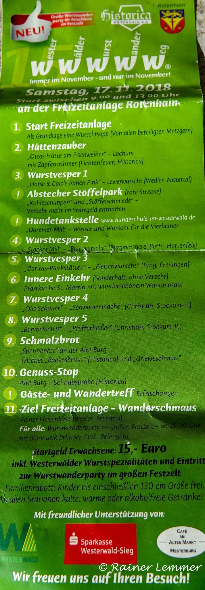 Startkarte WWWWW