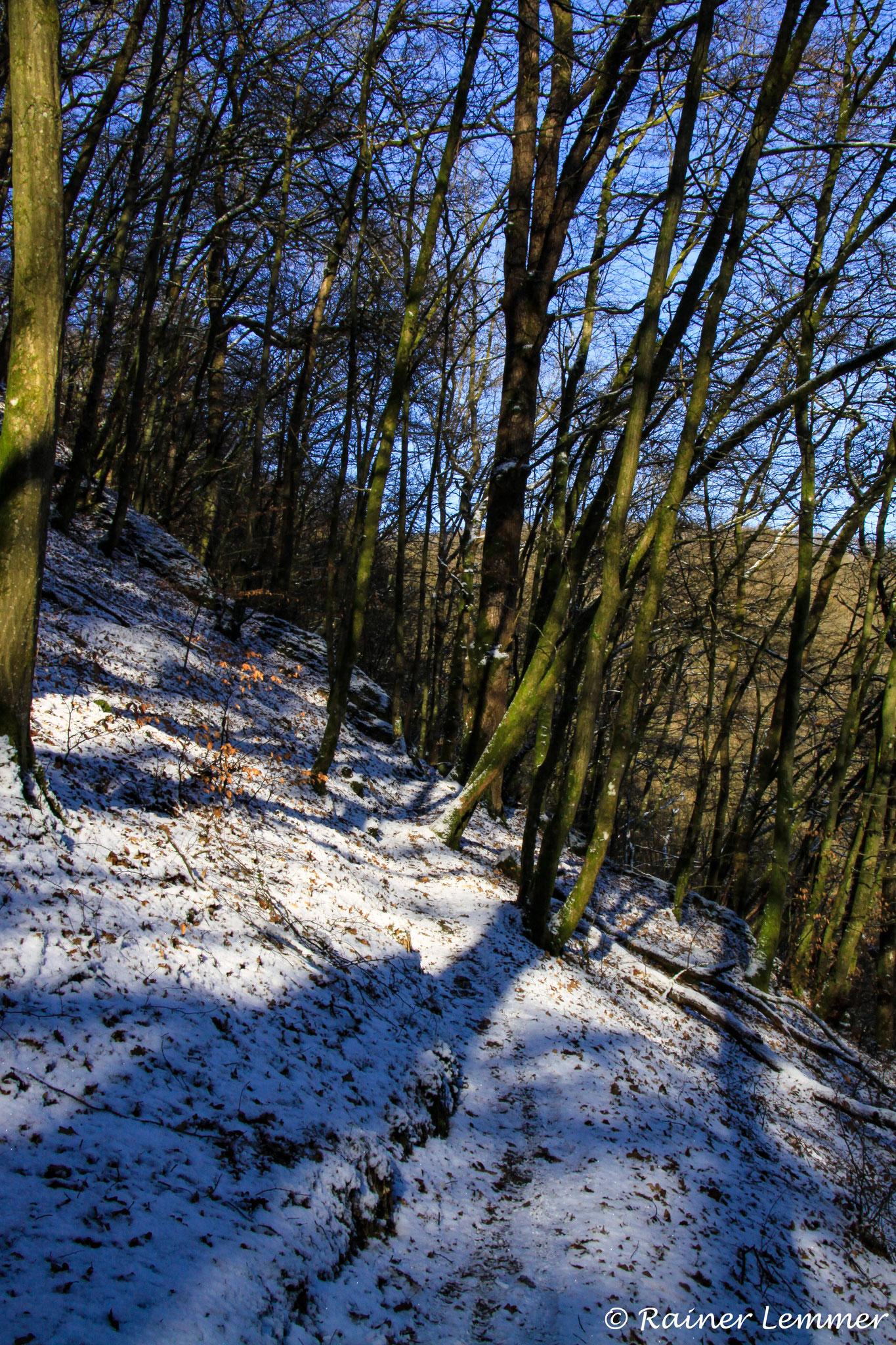Naturpfad Weltende im Schnee