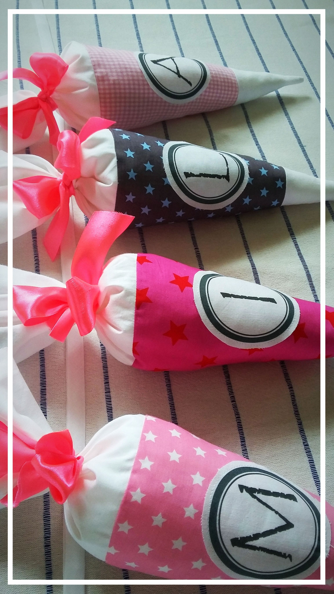 Zuckertütengirlande Mädchen, Schultütendeko, Einschulungstüte, Schultüte, Schultüten, Zuckertüte, rosa, Einschulungsparty, erster Schultag, Schulfeier