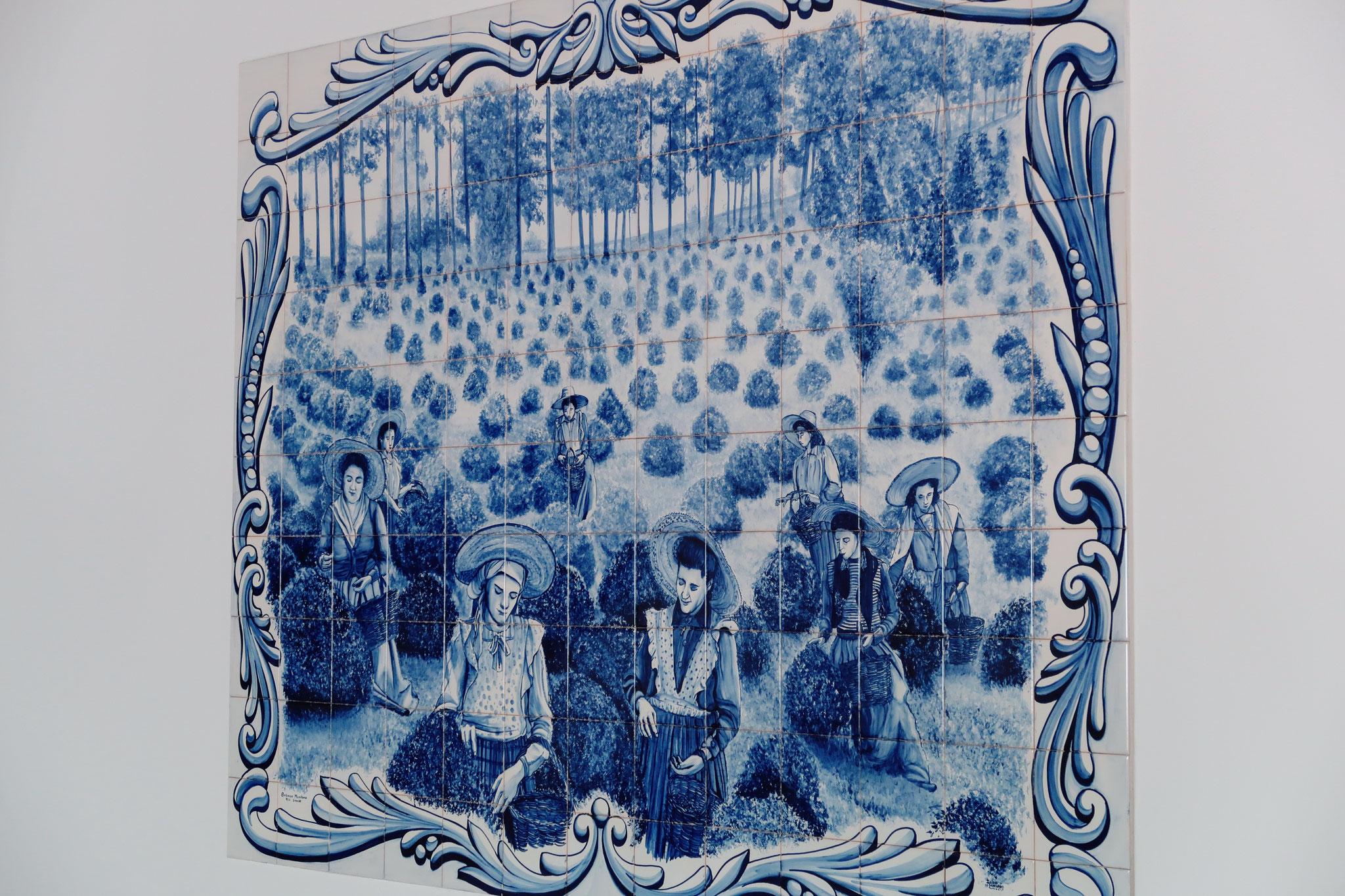 Traditionelles Azulejo Gemälde