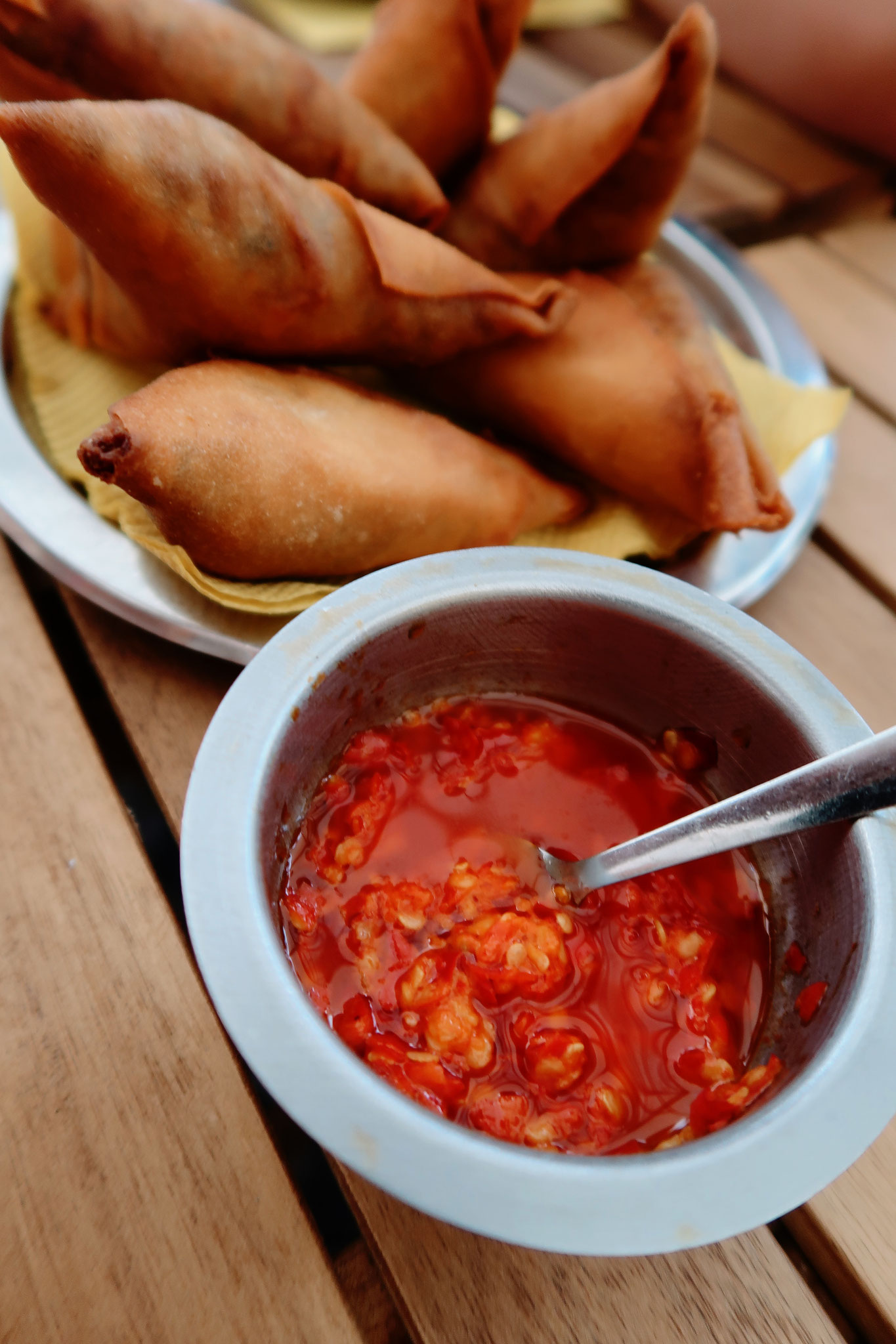 Samosas Mozambique Style mit Chili Sauce