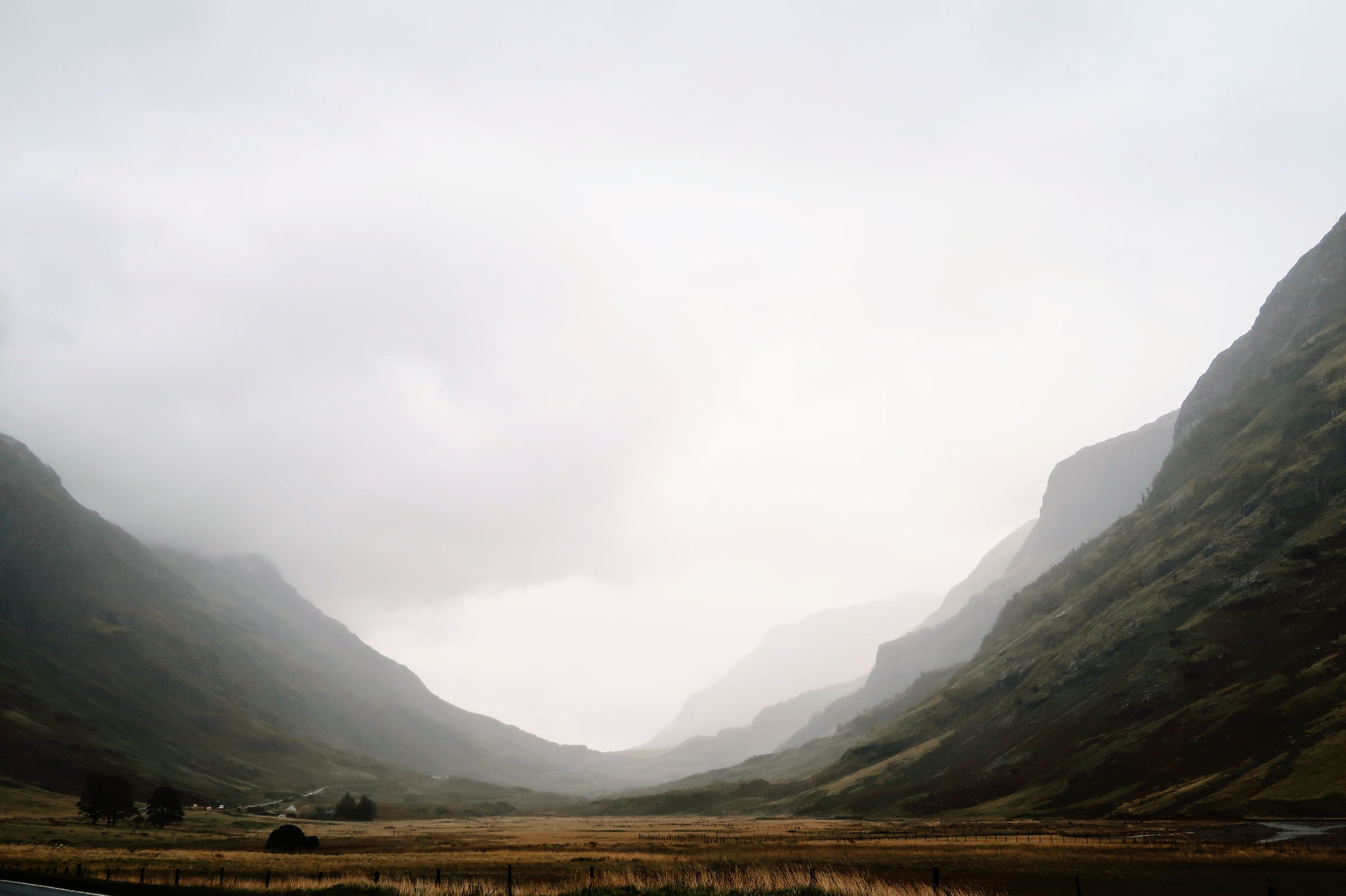 Glencoe Valley im Regen