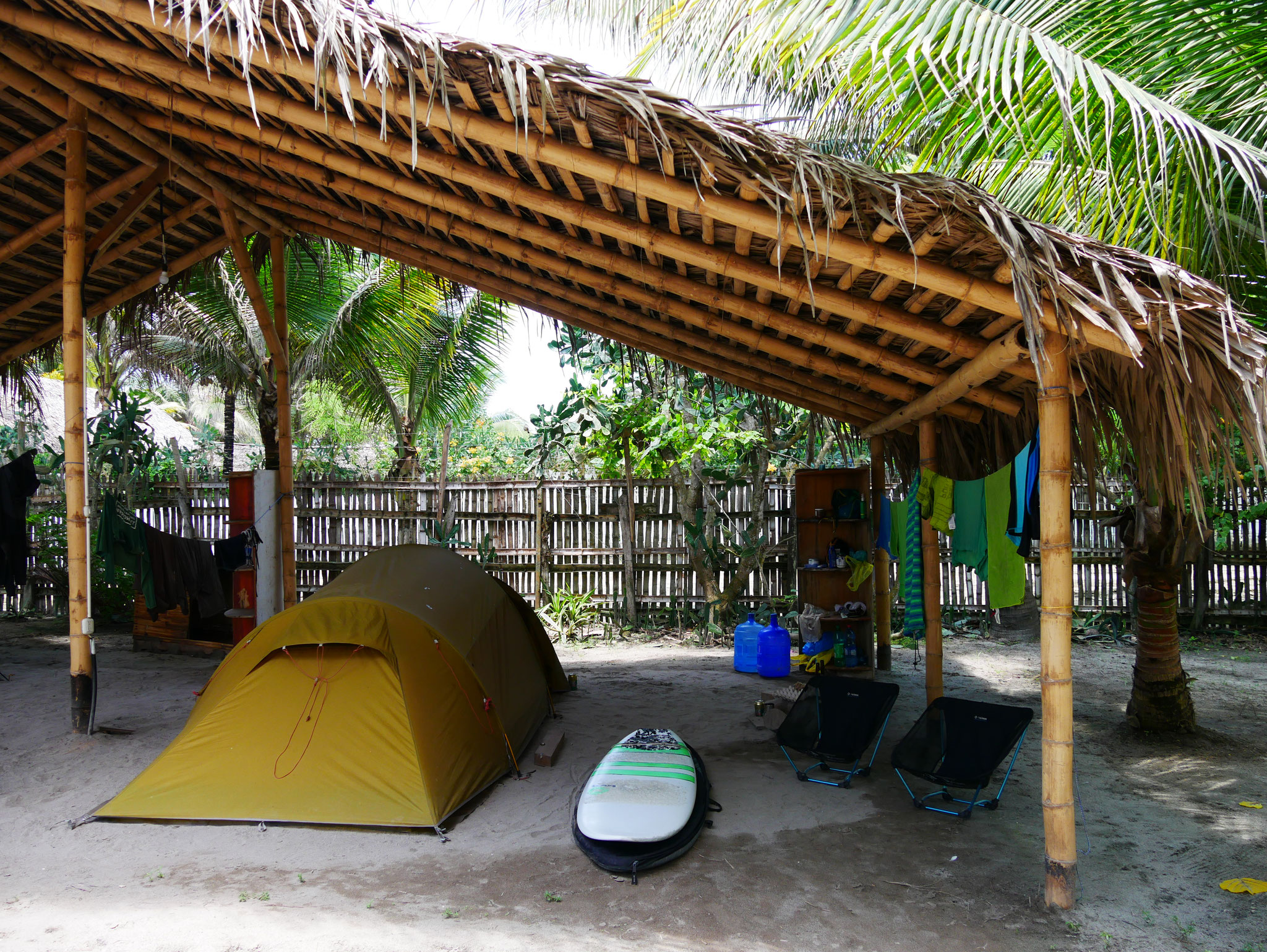 """Unser """"Surf camp"""" in Canoa"""