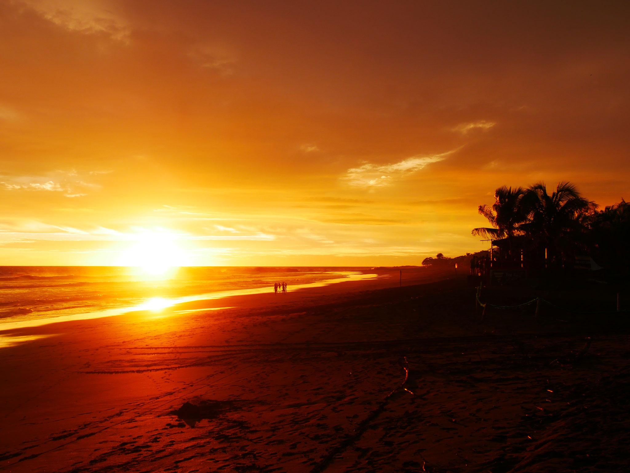 Sunset Playa El Transito, Nicaragua