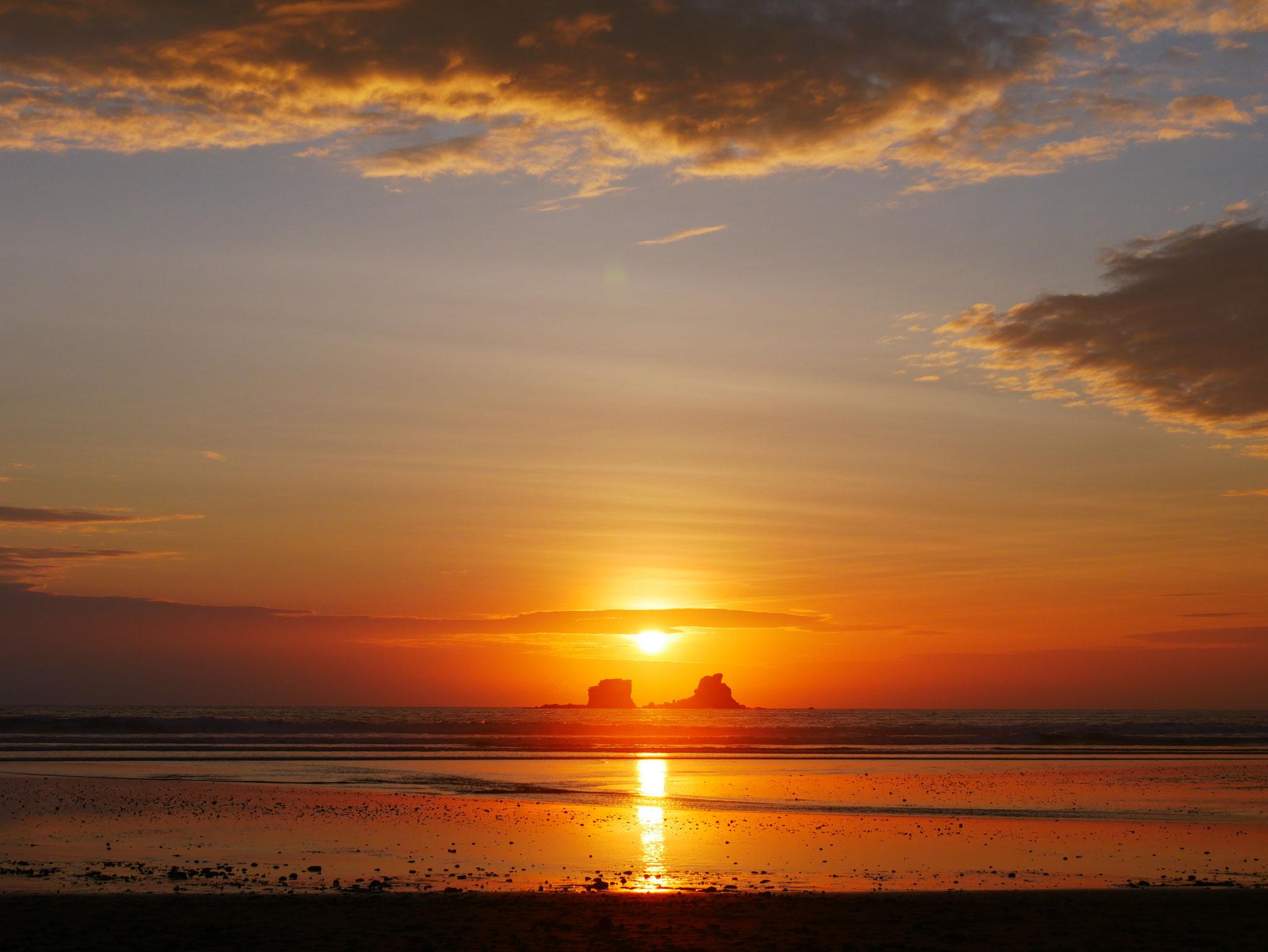 Sonnenuntergang in Ayampe