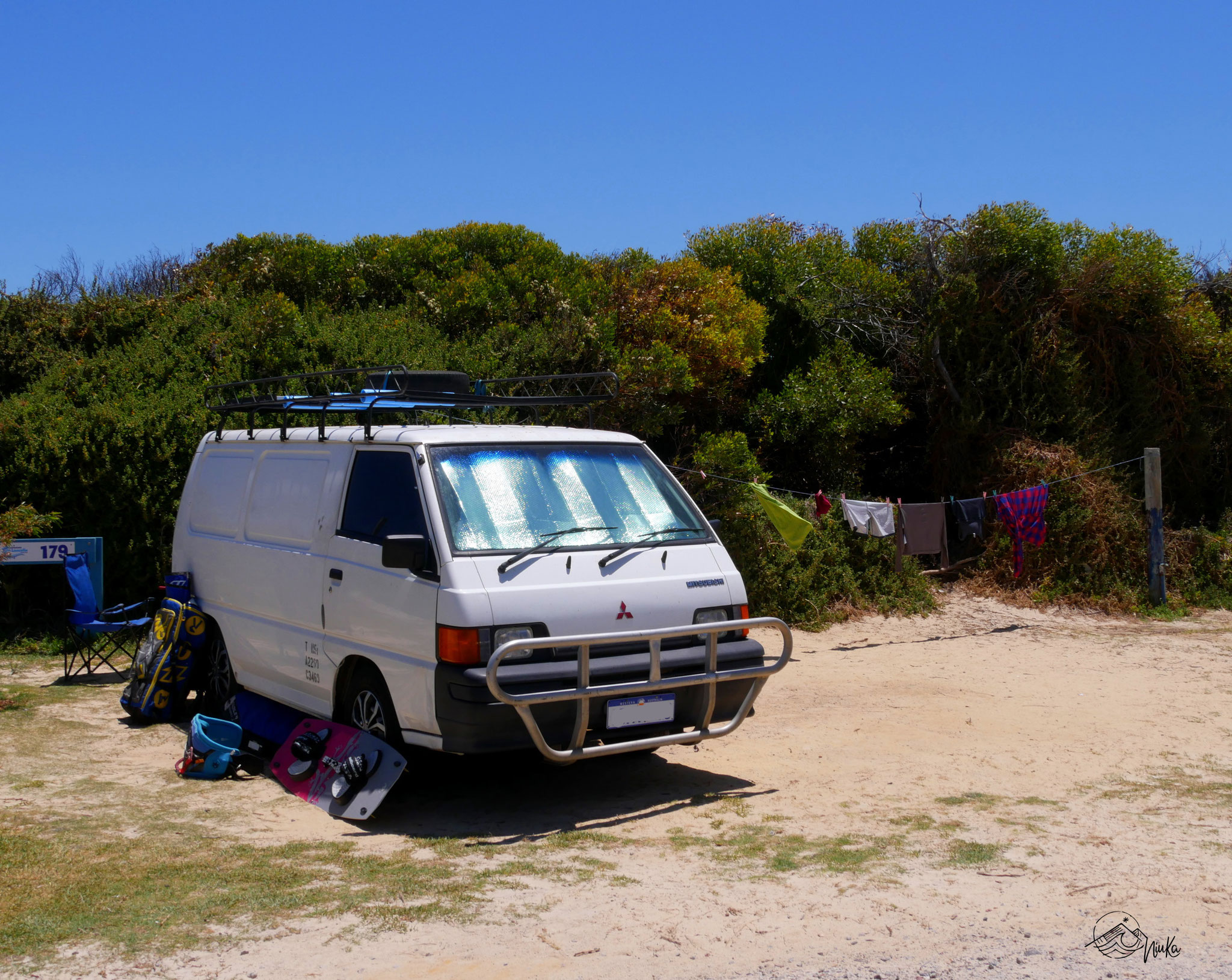 Camping fast direkt am Spot