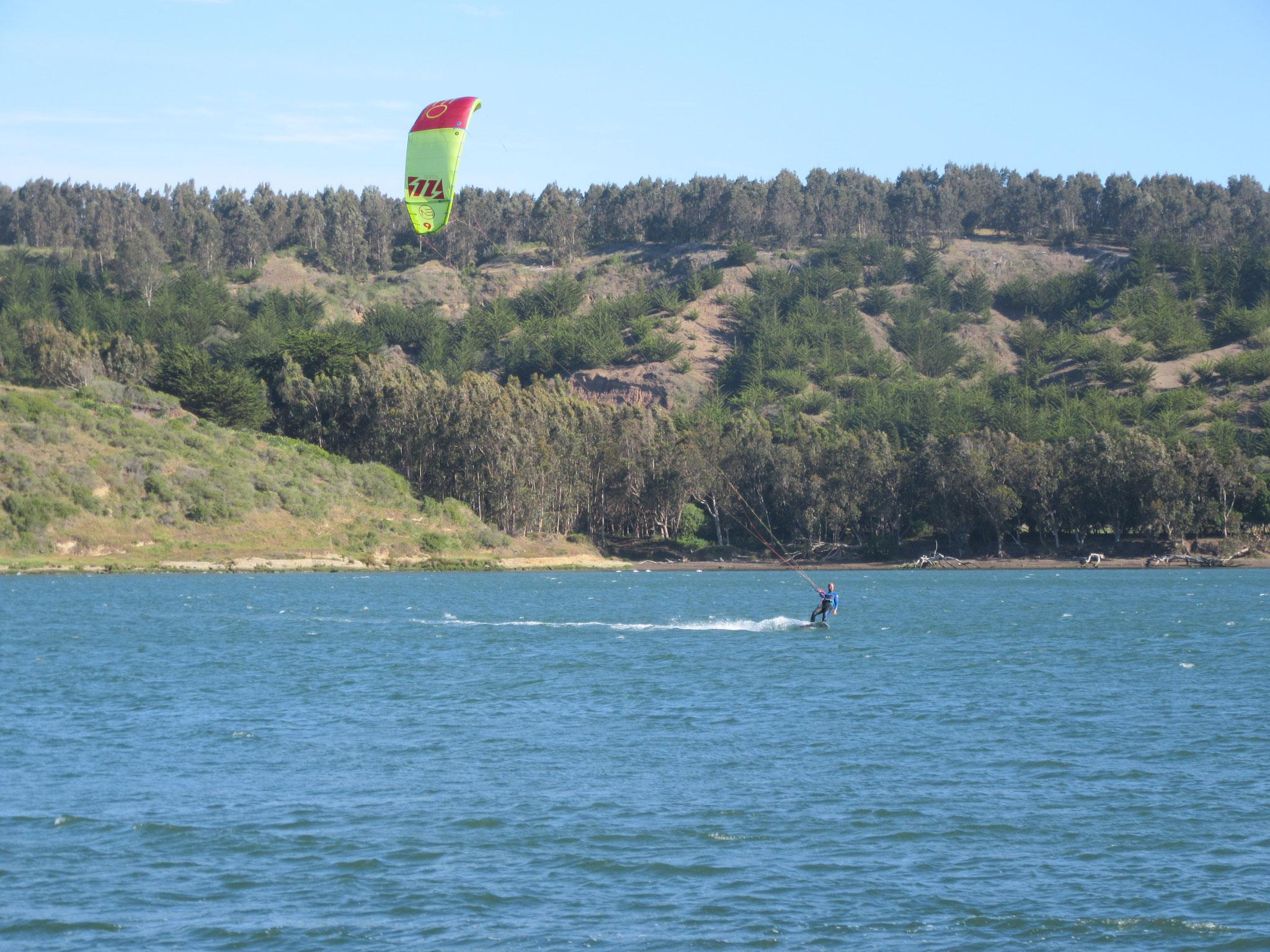 Kitesurfing in La Boca
