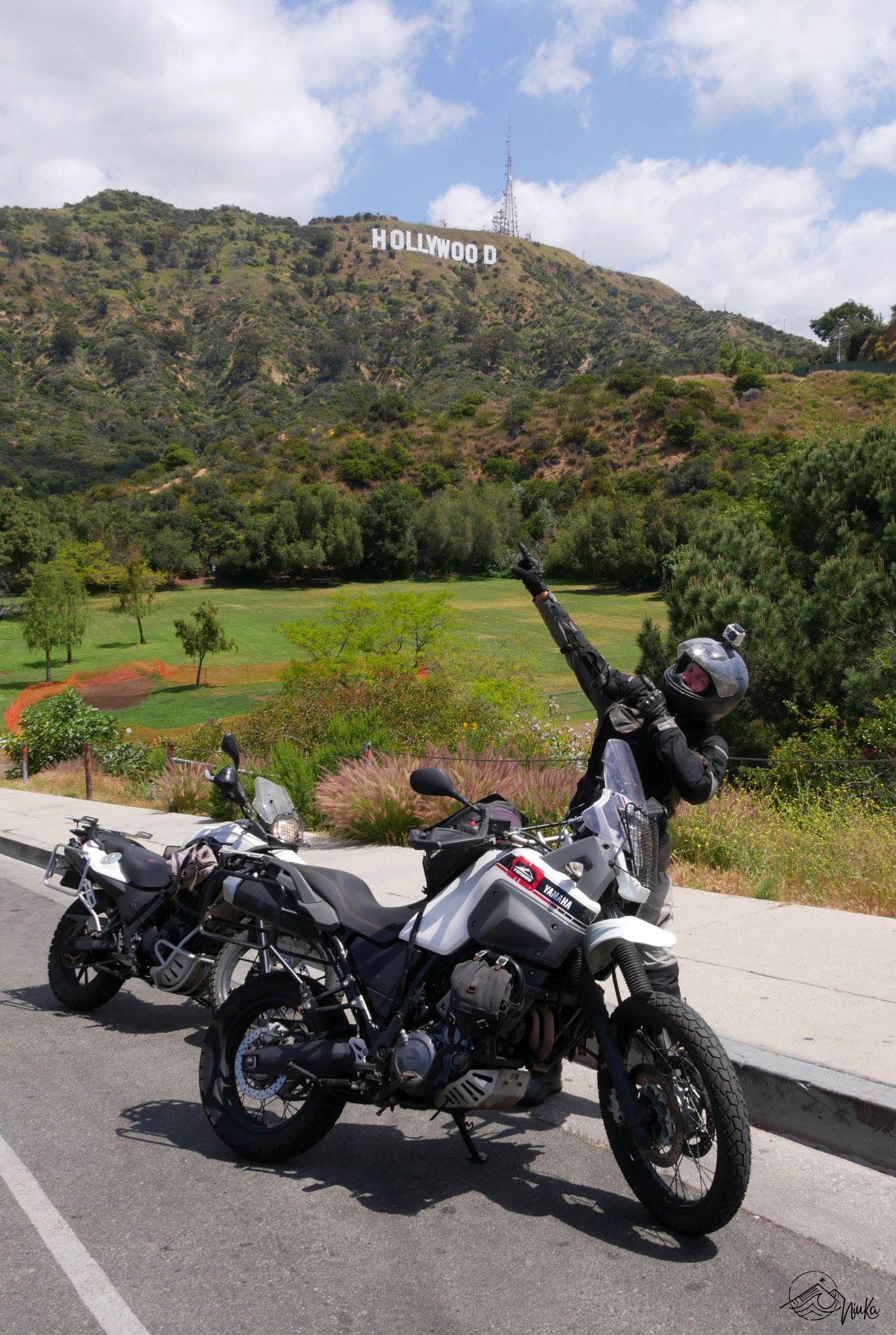 Mit den Motorrädern durch HollywoodHo