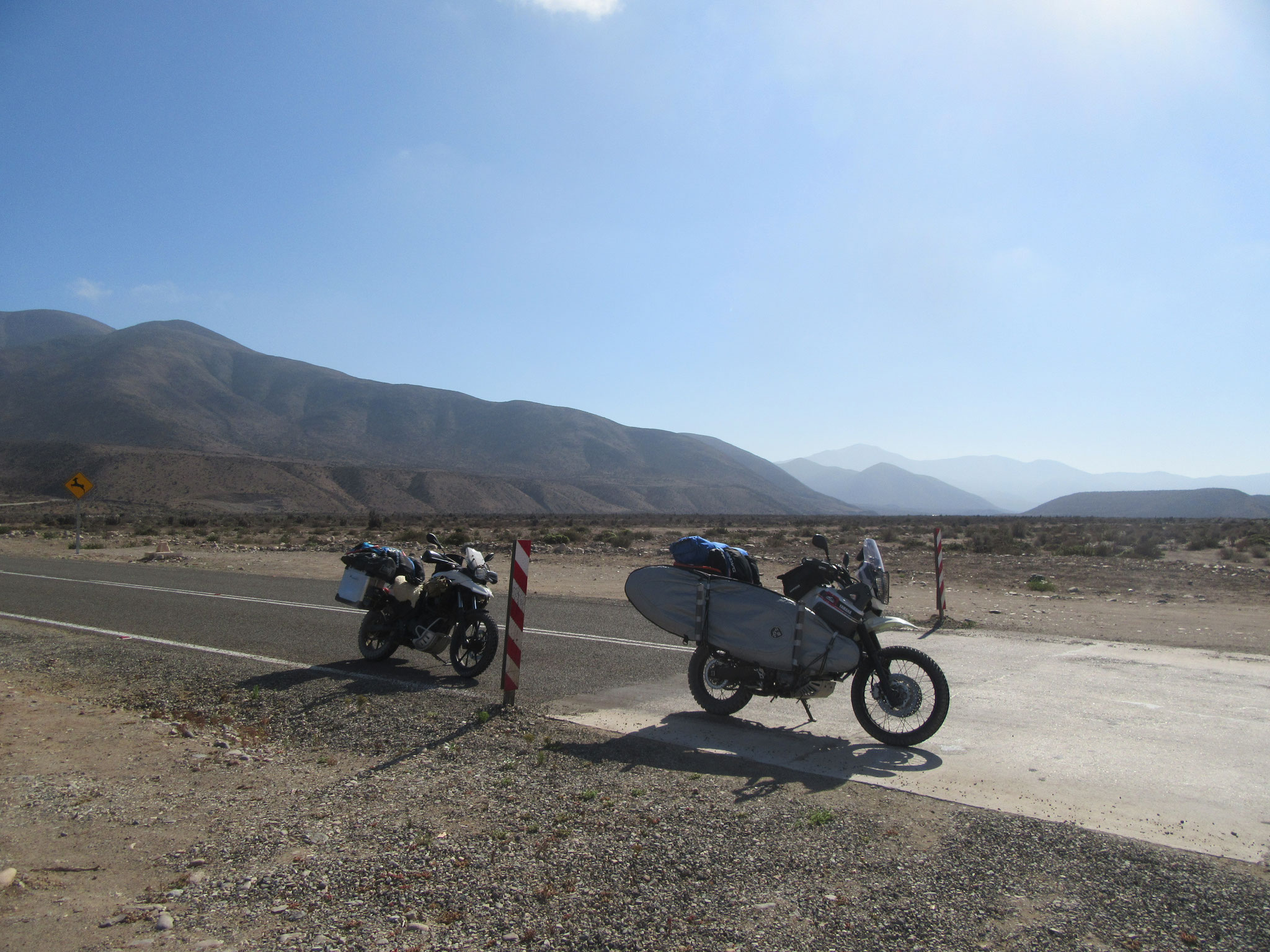 Driving to Punta Choros