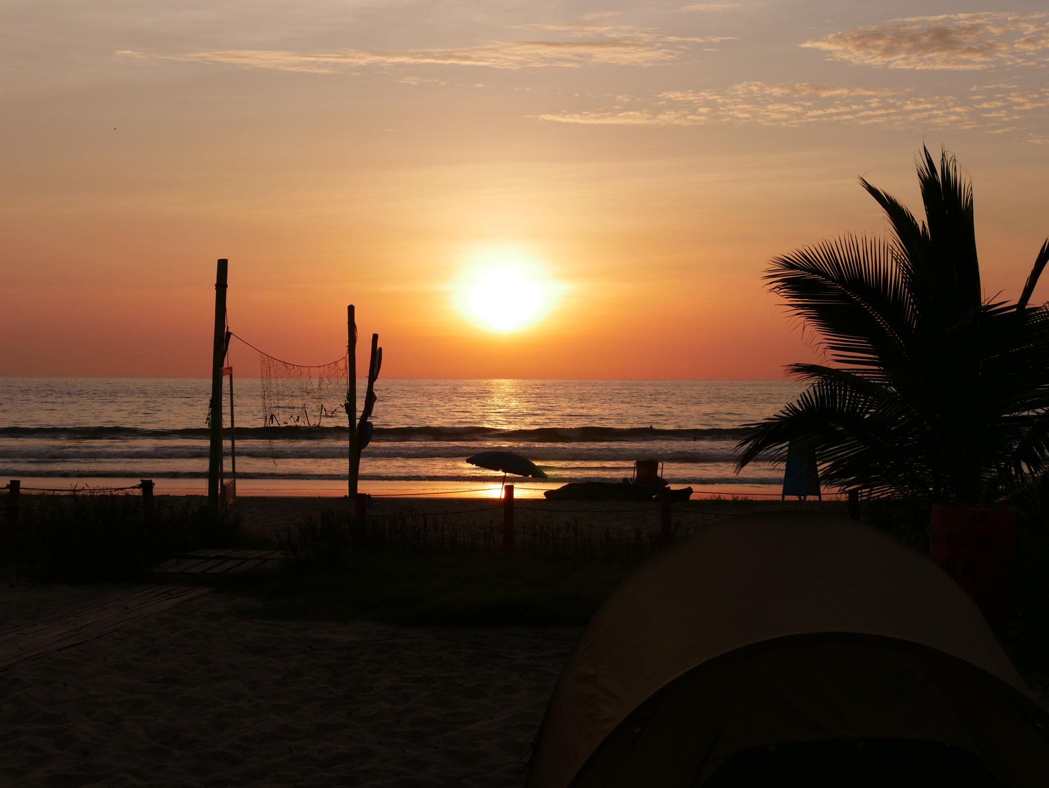 Sonnenuntergang in Montanita