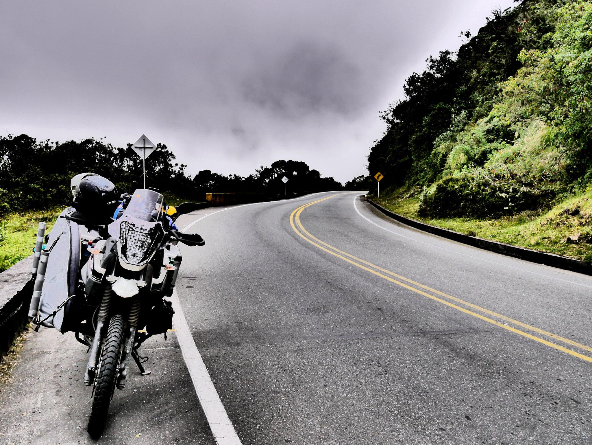 Fahrt durch die Anden in Kolumbien