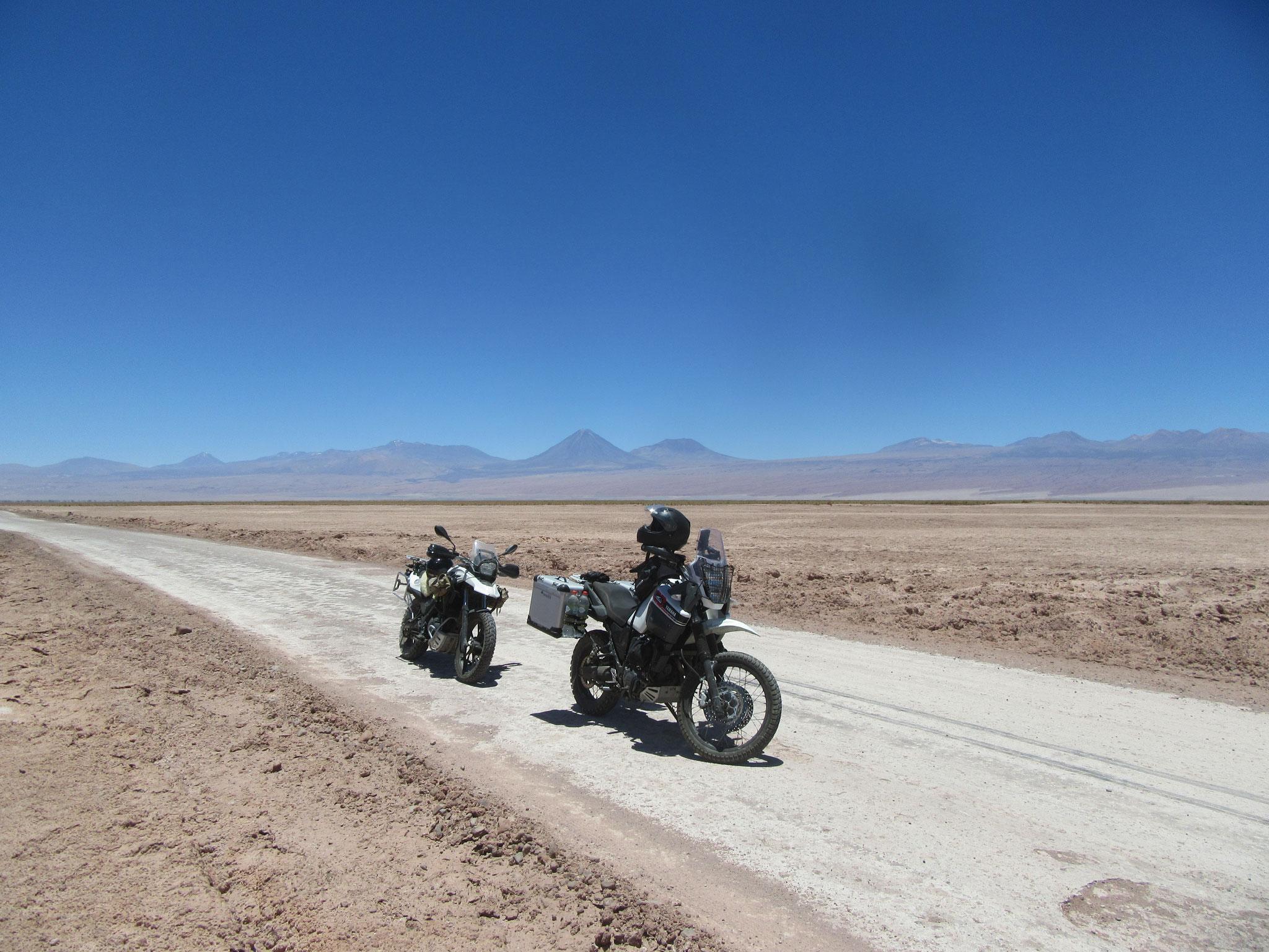 Driving through Atacama Desert