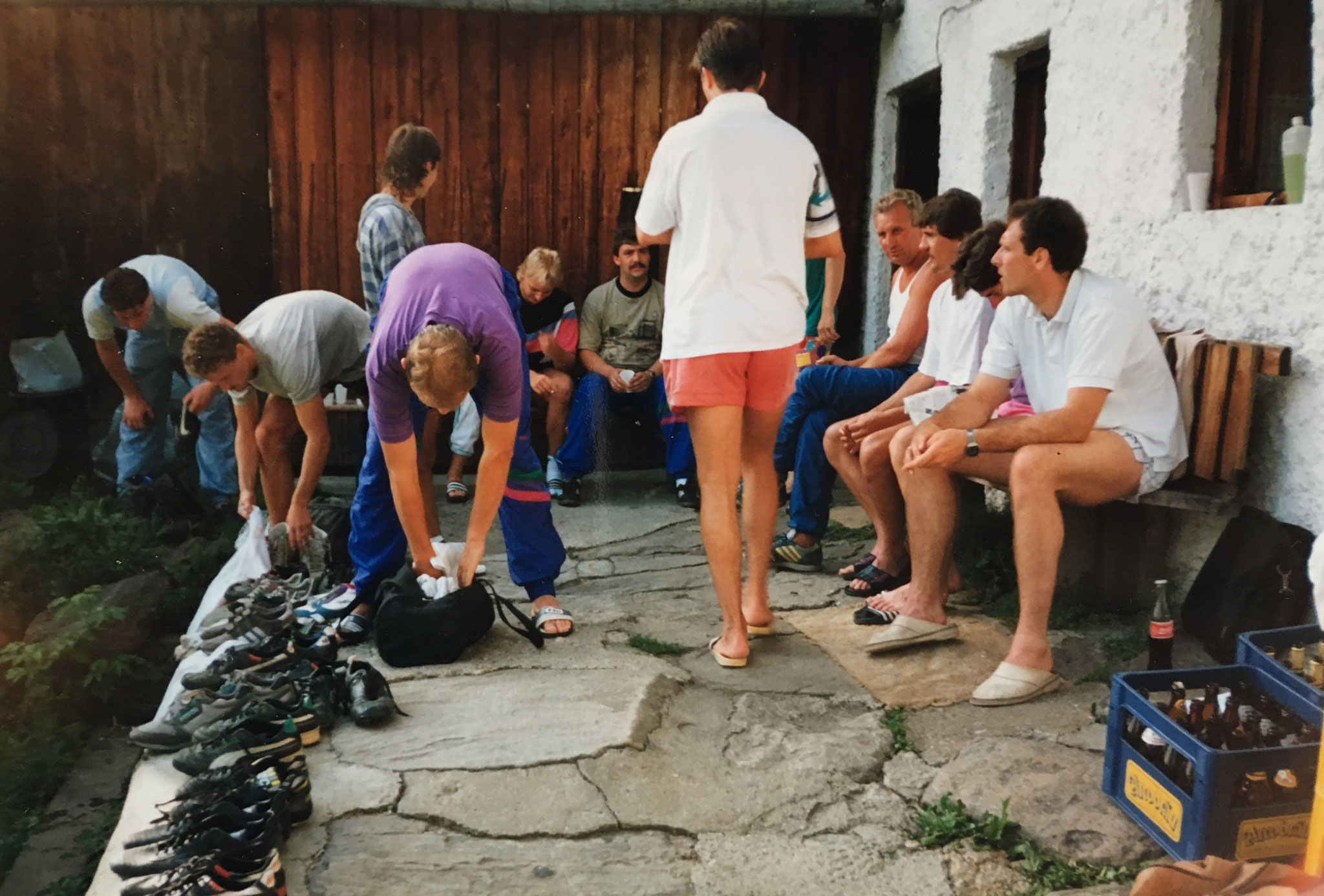 Die 1. Mannschaft im Trainingslager zur Vorbereitung auf die Bezirksliga-Saison 1991/92