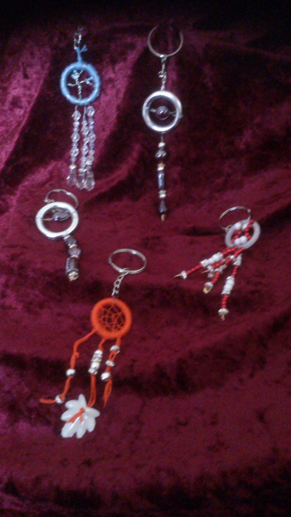 Schlüsselanhänger in verschiedenen Variationen