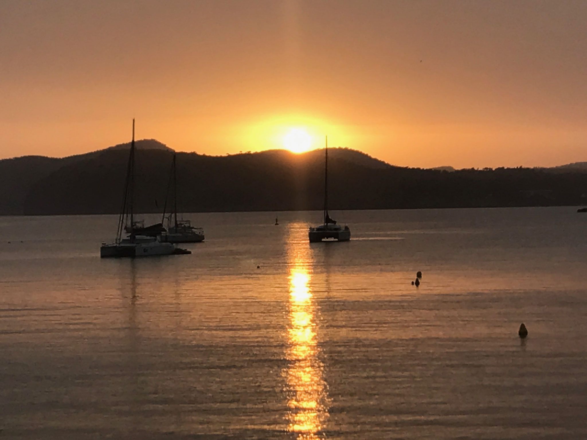 Sonnenuntergang vor Santa Ponca