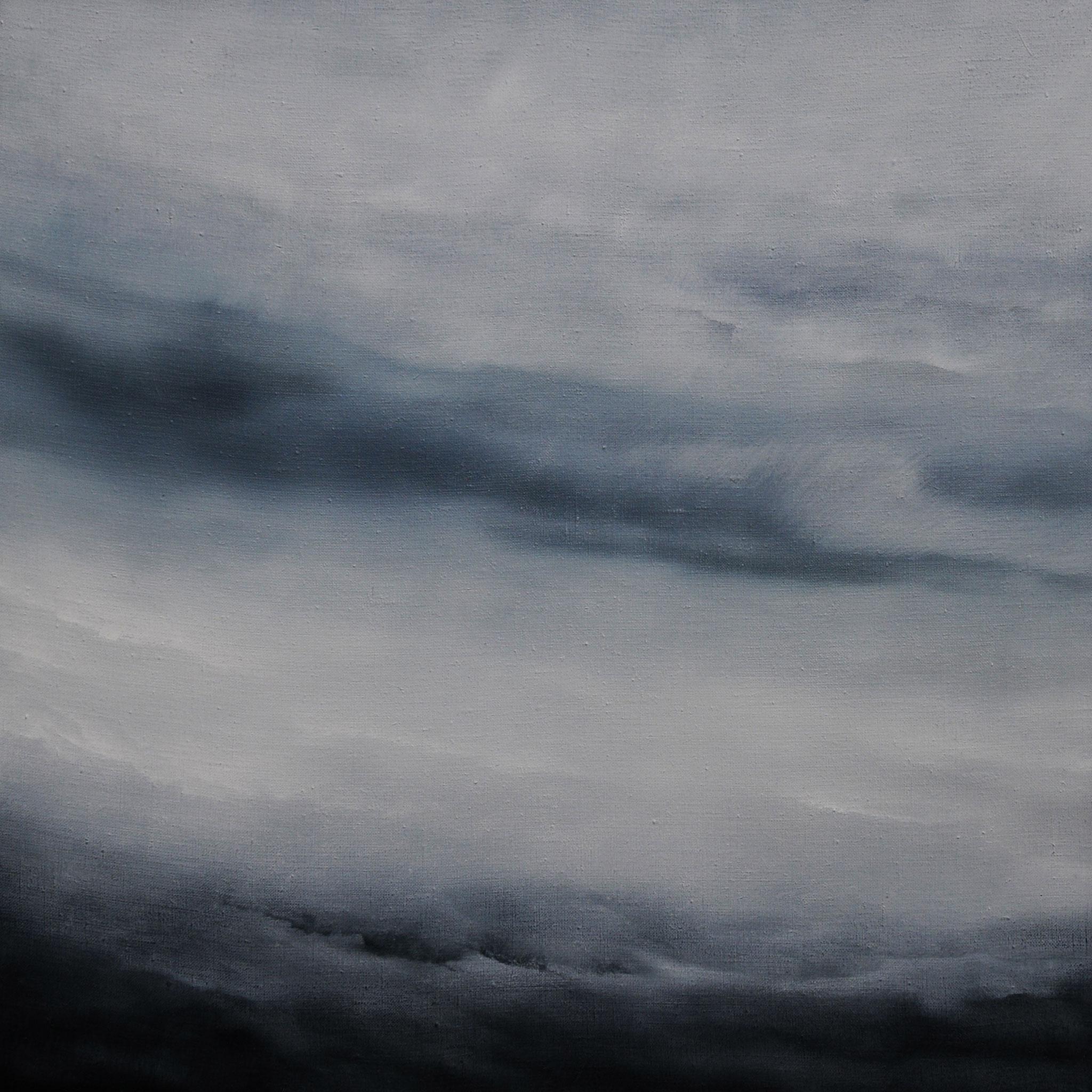 LANDSCHAFT IN AUFLÖSUNG, 2018, Öl/Lwd., 60 x 60cm