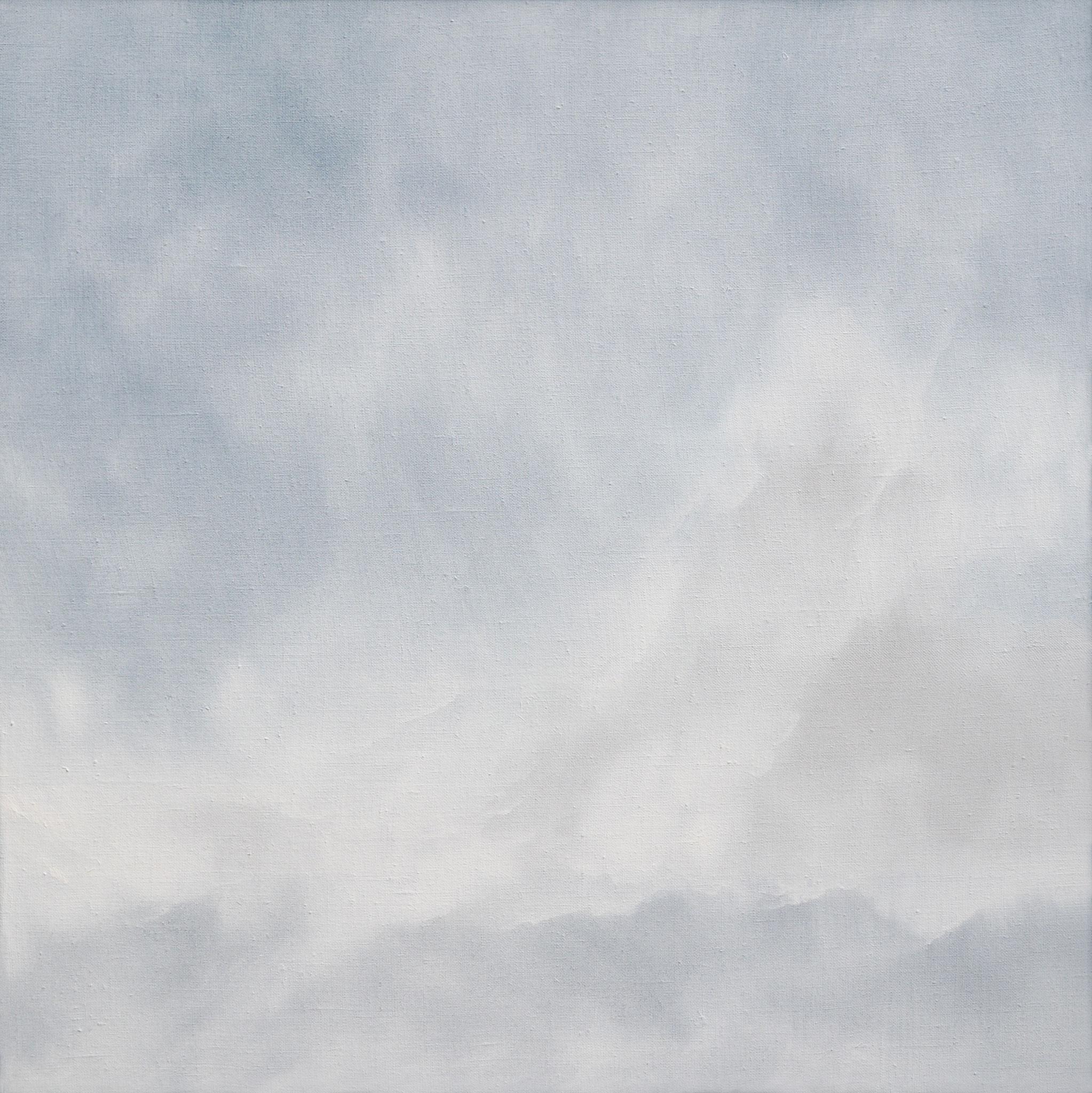 LANDSCHAFT IN AUFLÖSUNG 3, 2019, Öl/Lwd., 60 x 60cm