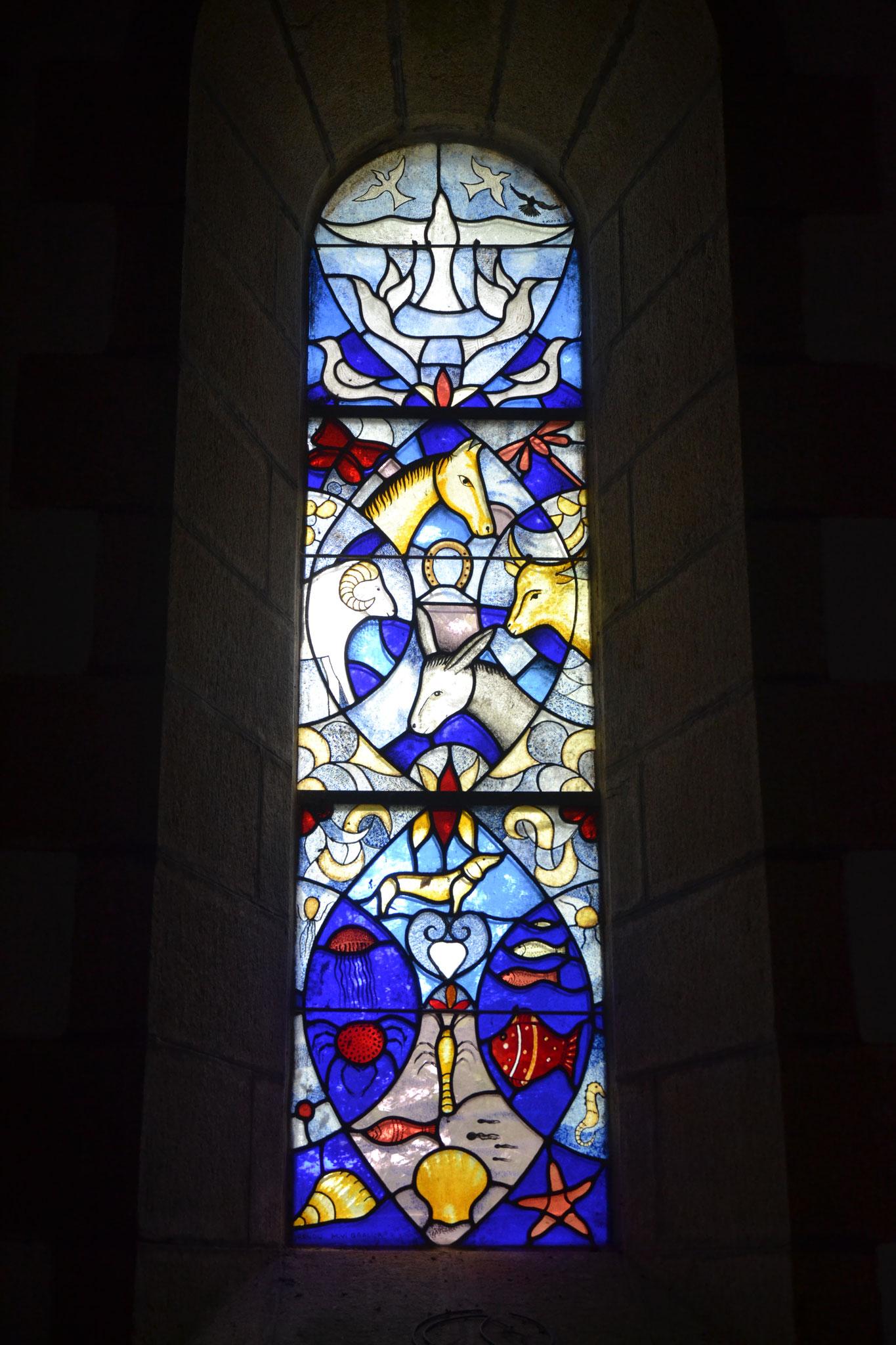 chapelle  Lospars, Châteaulin, les animaux du ciel, de la terre et de l'eau