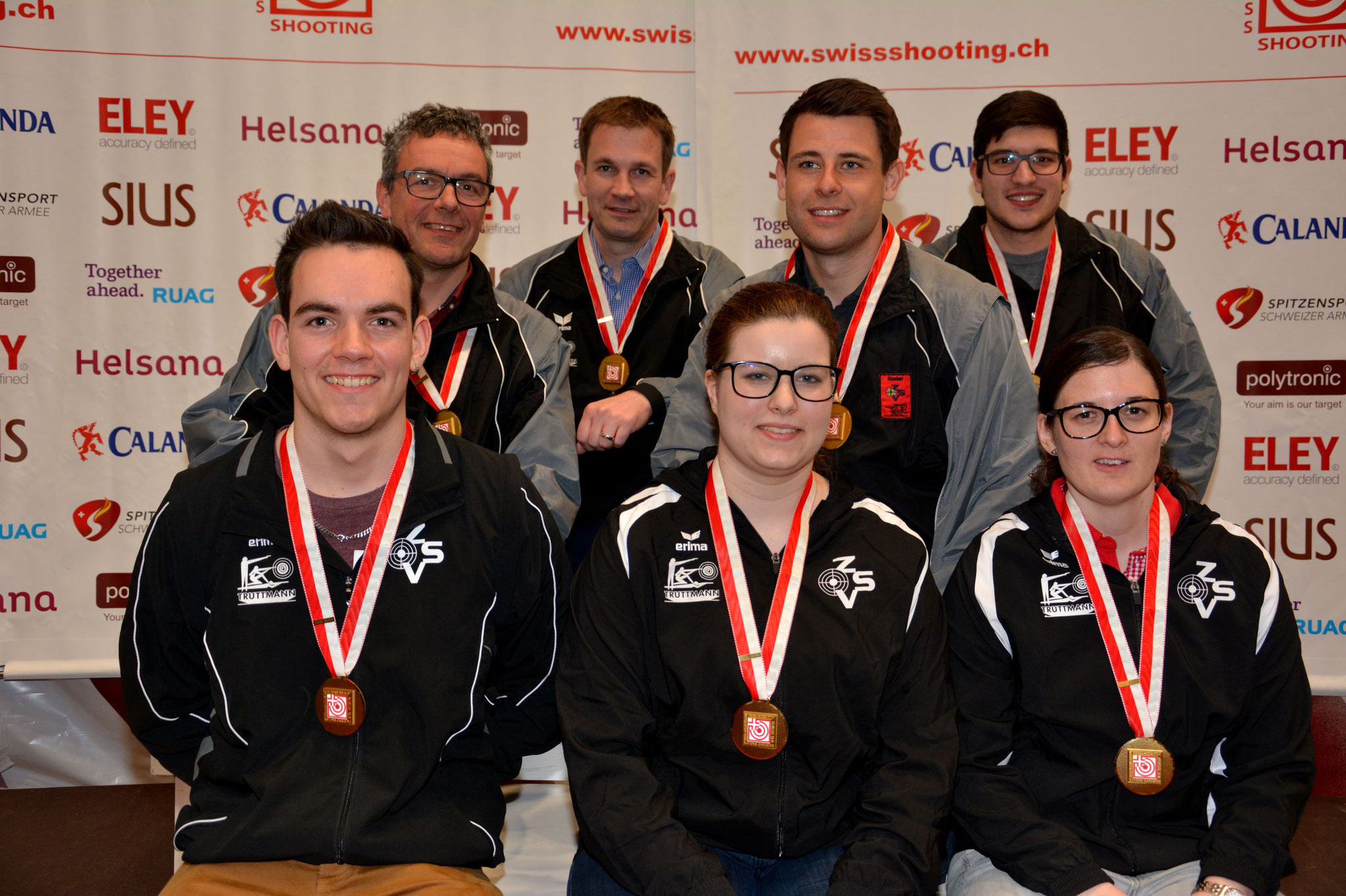 1. Rang für die Zentralschweiz am Verbandsmatch 10m in Bern 2019! Herzliche Gratulation!
