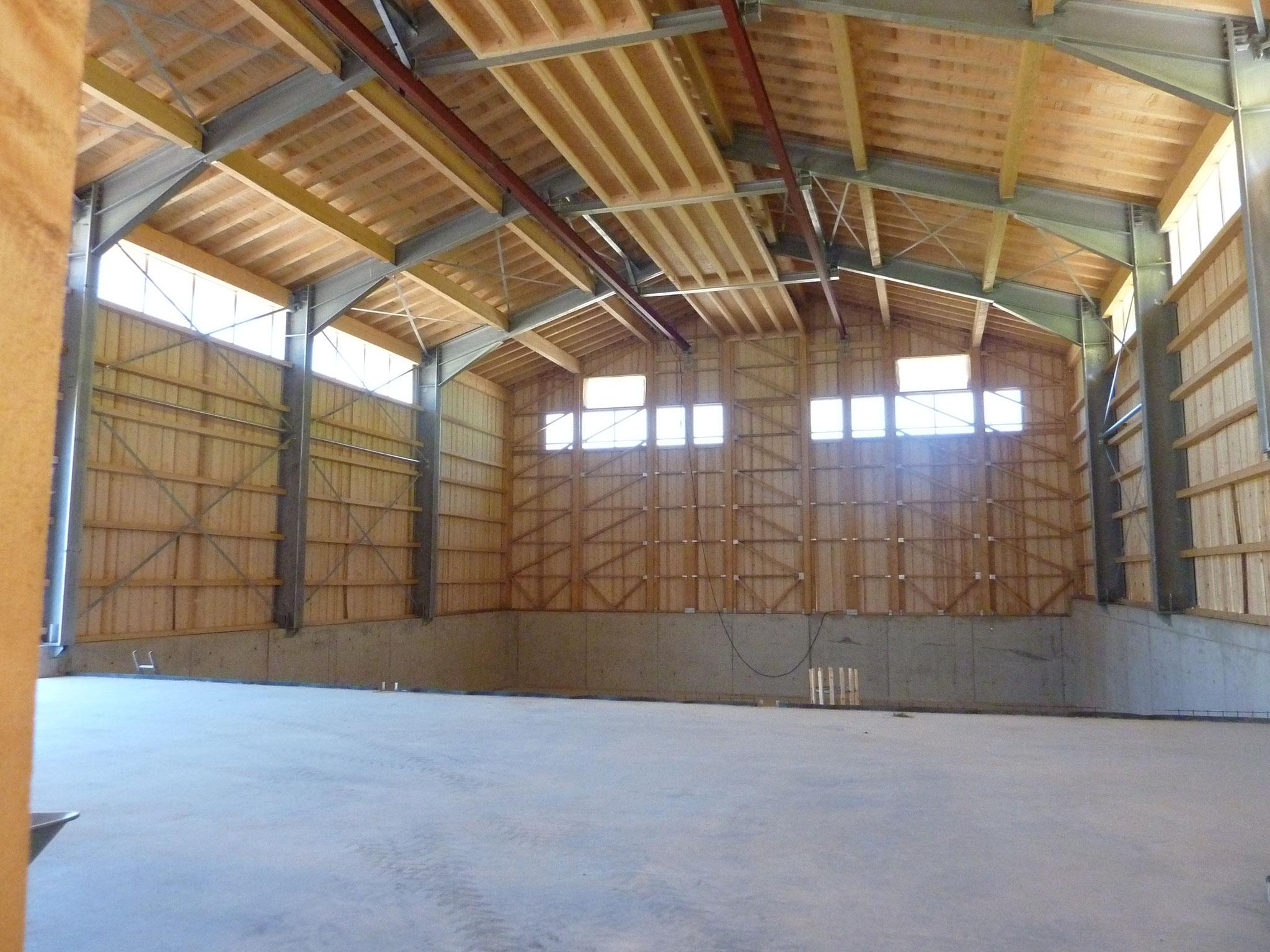 Die Halle im August 2019