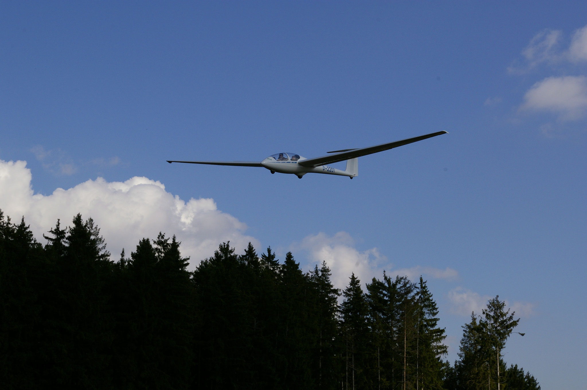 D-2201 im Landeanflug