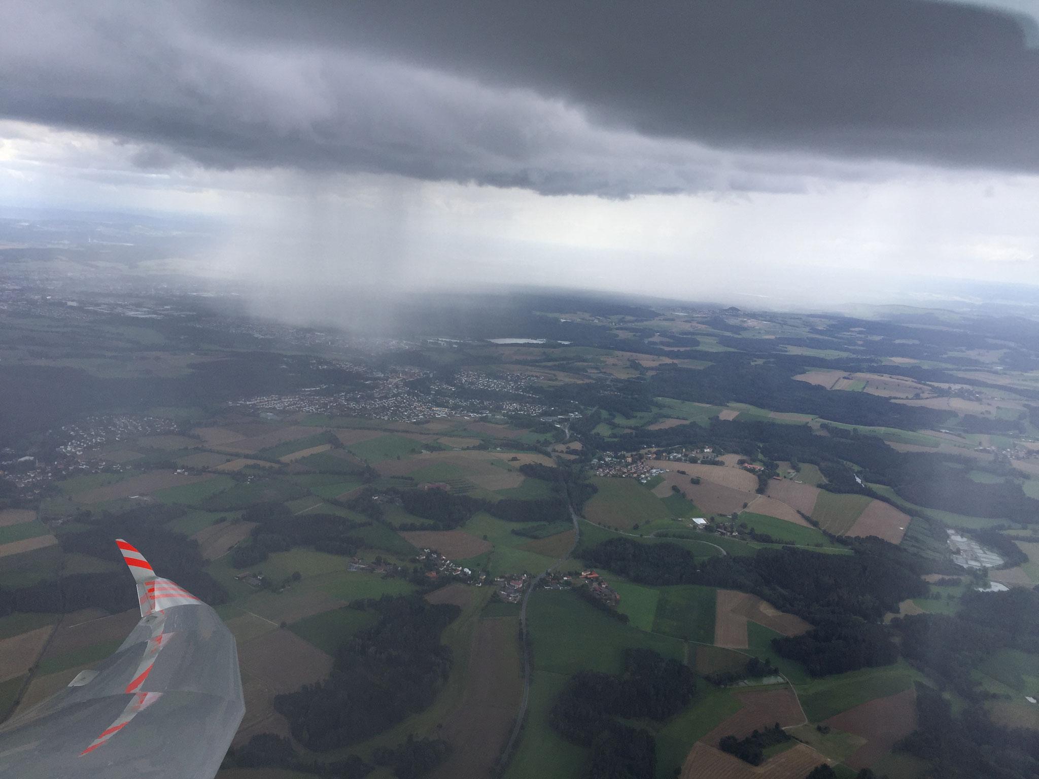 Regen über Weiden