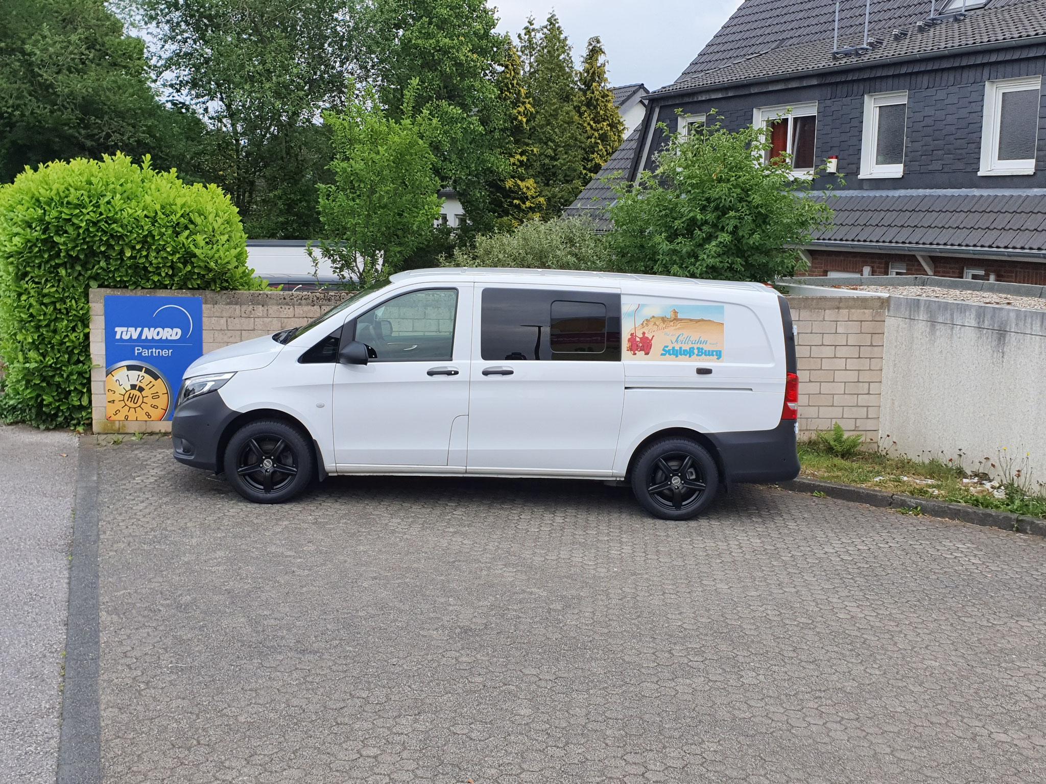 Neue Rad-Reifen-Kombination für den Vito der Firma Seilbahn Burg/Solingen