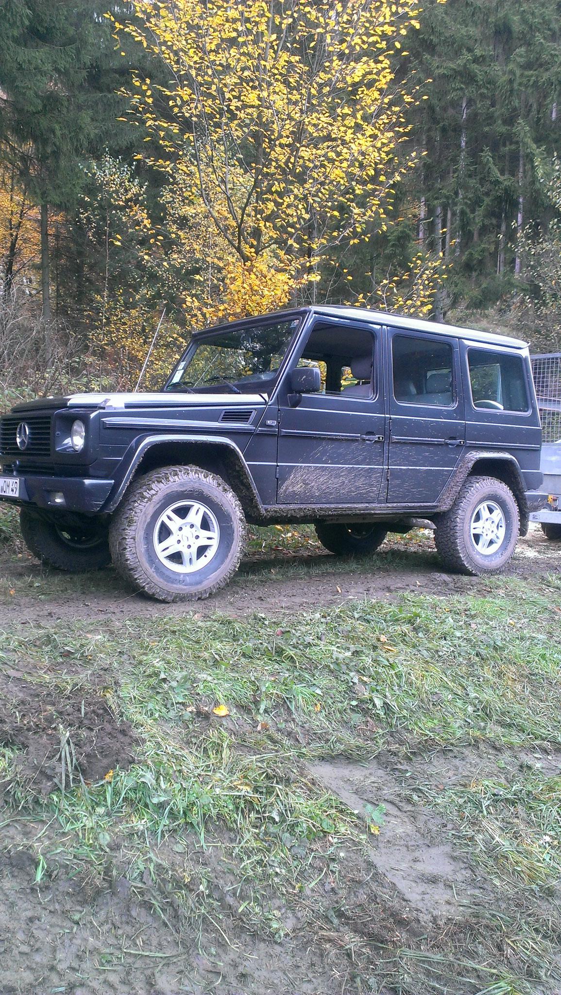 Mercedes G: Fahrwerkshöherlegung, Reifen AT