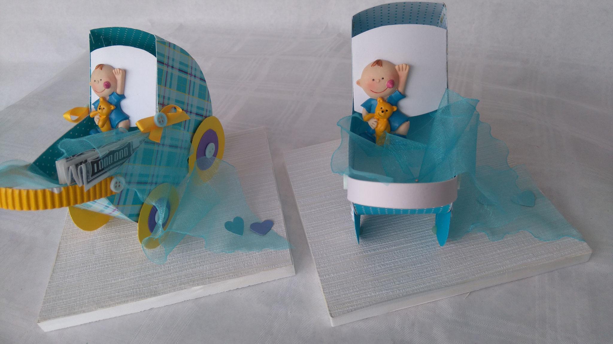 Scherenschnitt Kinderwagen