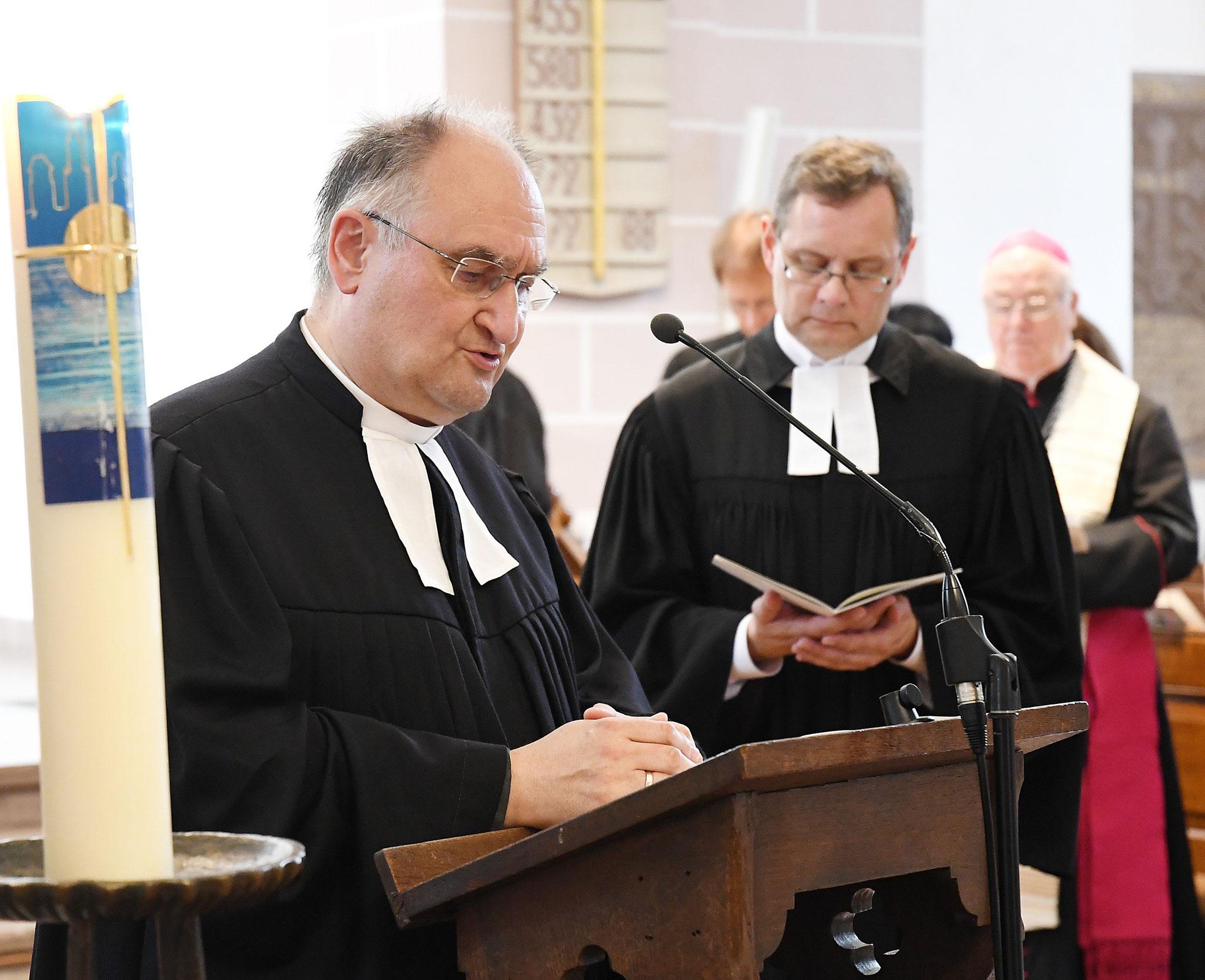 Pfarrer Michael Henheik und Pfarrer Gunnar Wirth. Foto: Maria Hopp