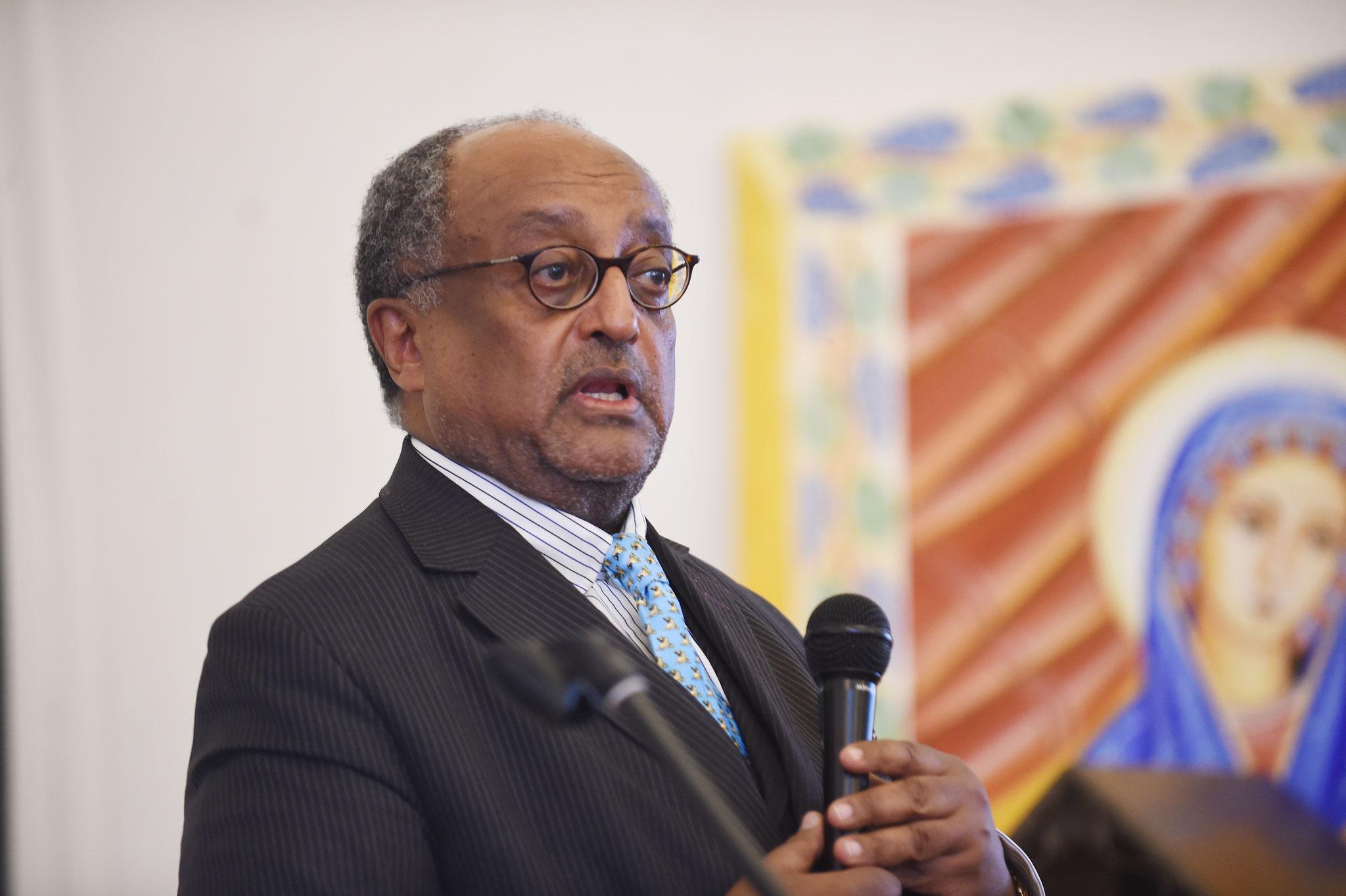 Prinz Asfa-Wossen Asserate, Großneffe des letzten äthiopischen Kaisers Haile Selassie. Foto: Maria Hopp