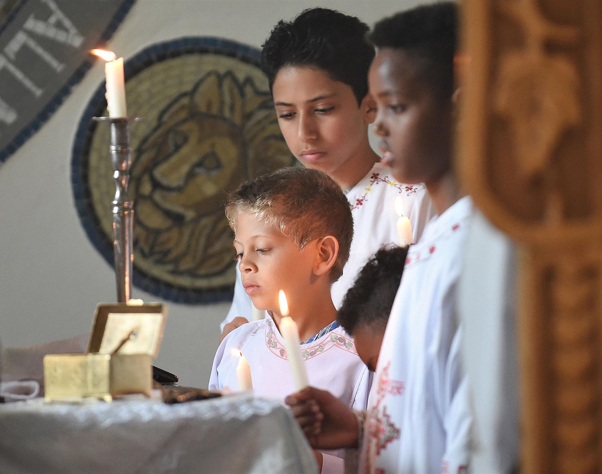 Koptisch-Orthodoxer Gottesdienst im Kloster Brenkhausen. Foto: Maria Hopp