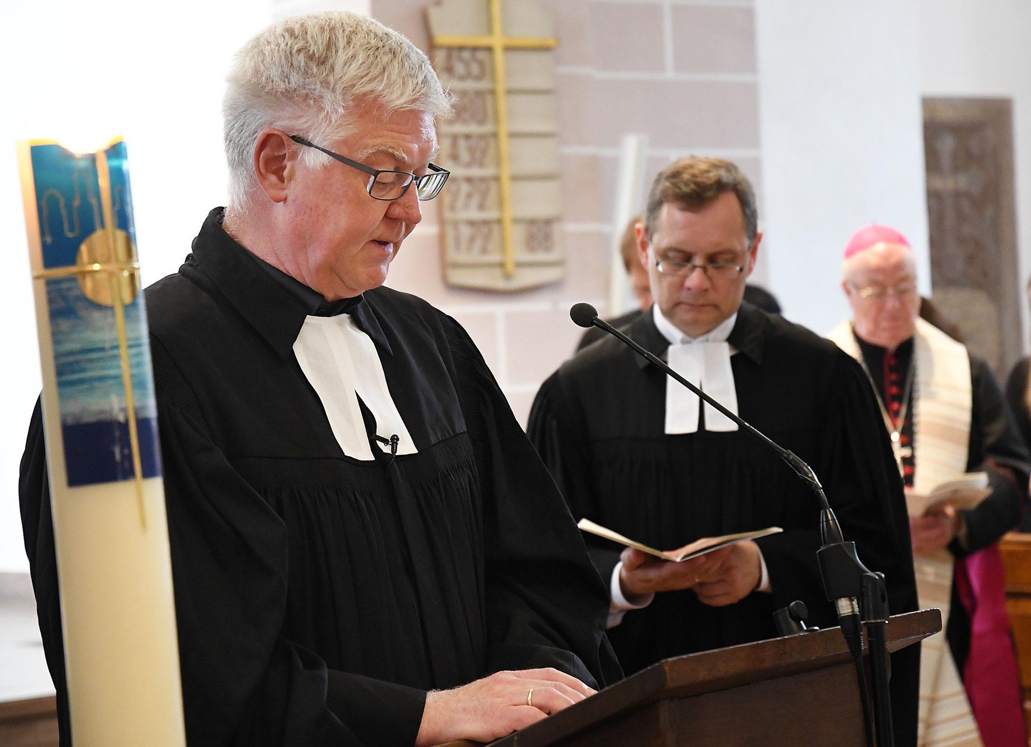 Pfarrer Dieter Maletz und Pfarrer Gunnar Wirth. Foto: Maria Hopp