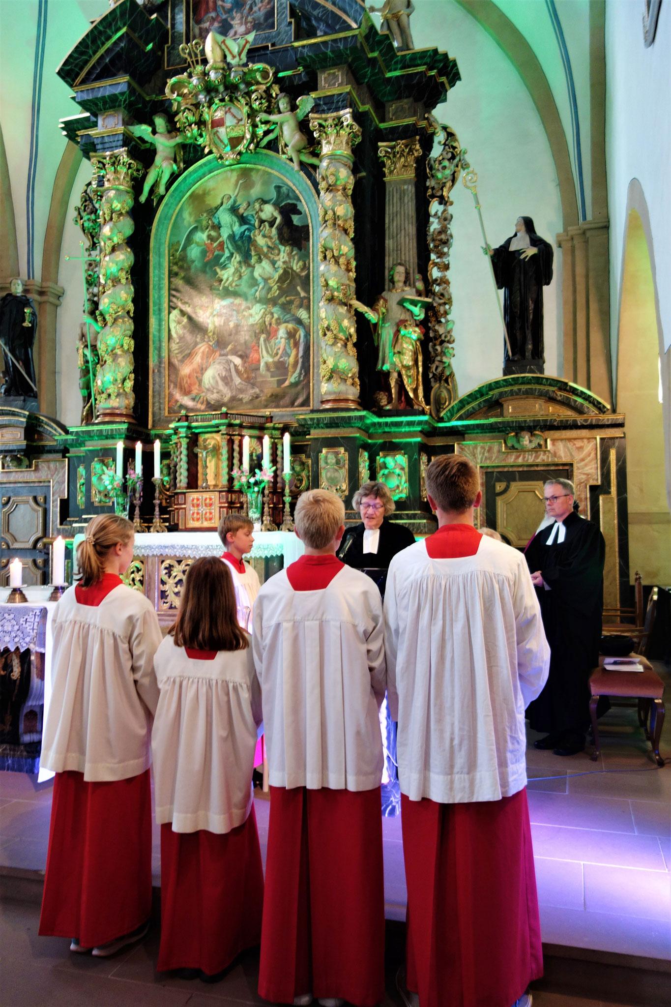 Predigt der Pfarrerin Annette Muhr-Nelson. Foto: Jennifer Peppler