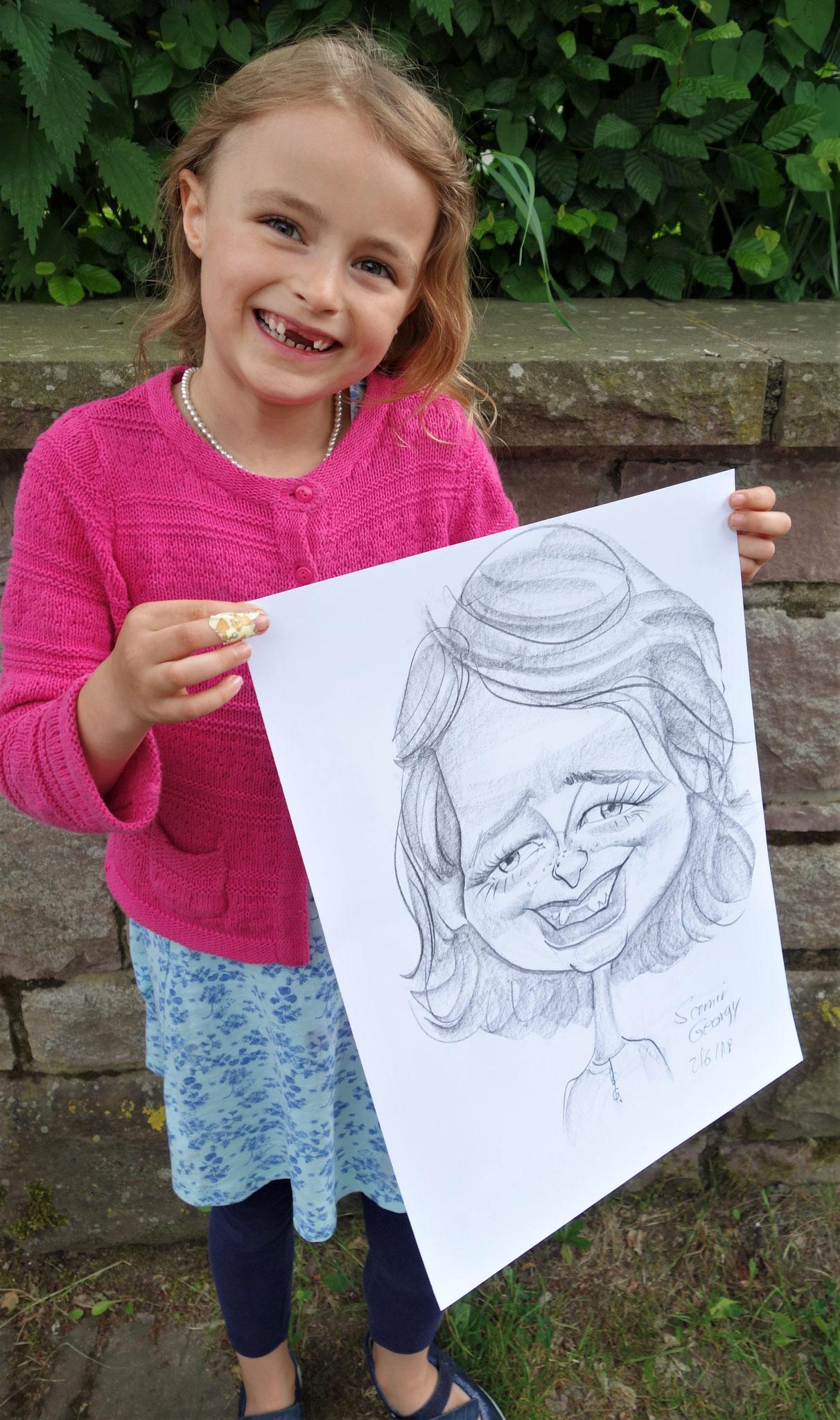 Weiterhin malte Samir Georgy Karikaturen von den Kleinsten. Foto: Jennifer Peppler