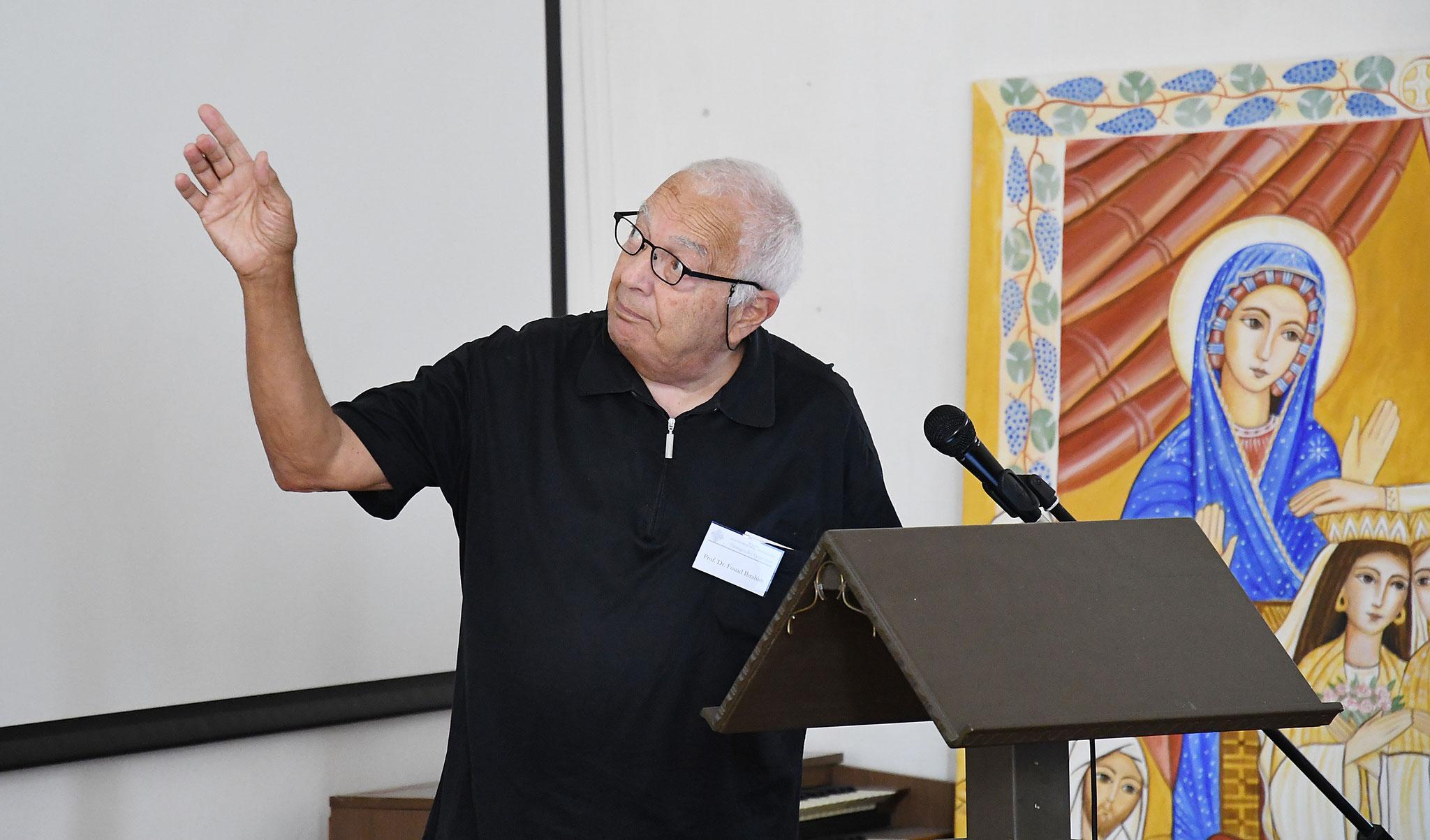 Vortrag von Prof. Dr. Fouad Ibrahim. Foto: Maria Hopp
